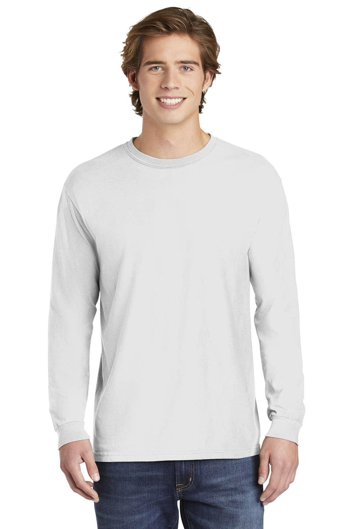 COMFORT COLORS  ®  Heavyweight Ring Spun Long Sleeve Tee. 6014 - White