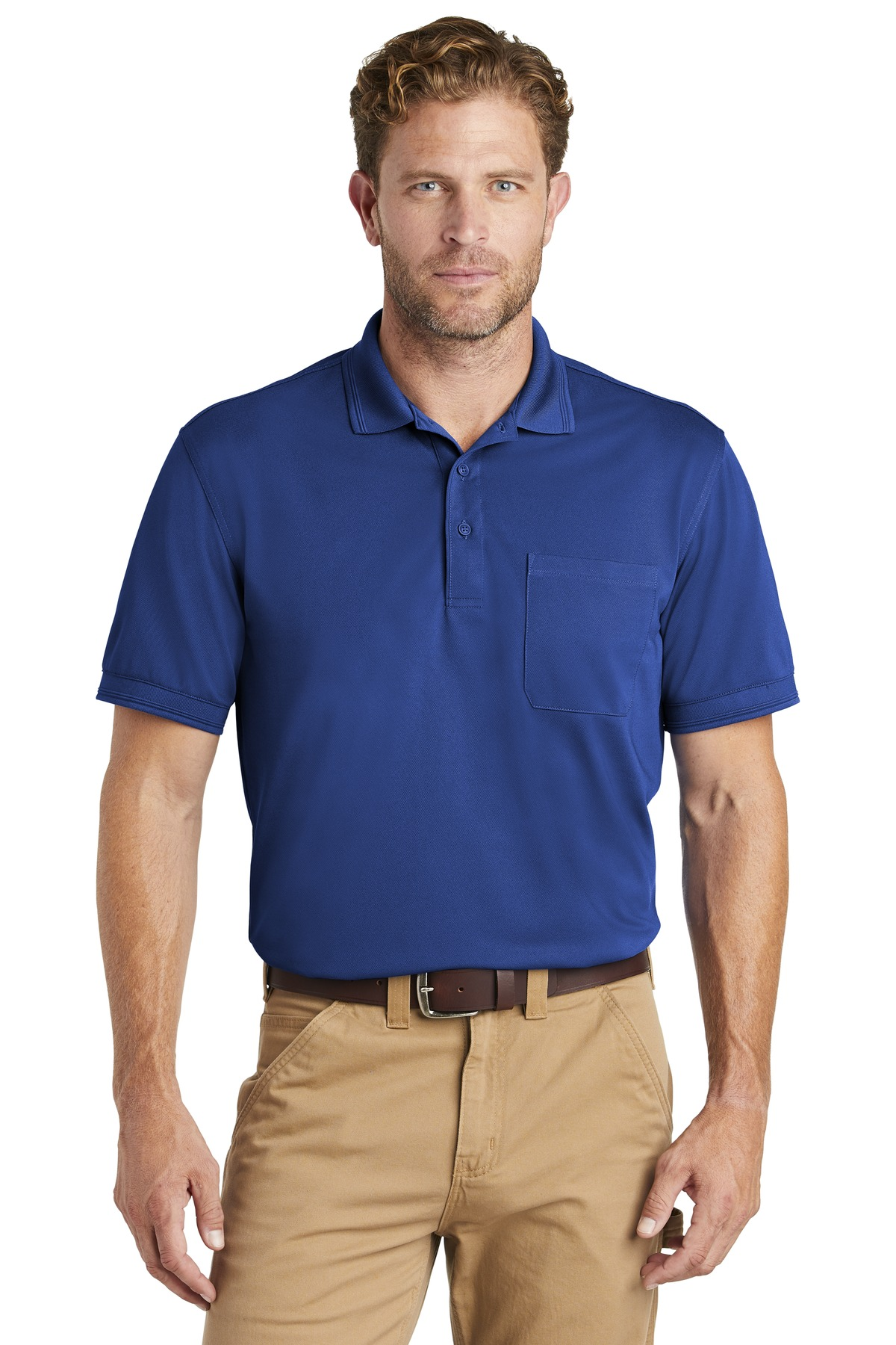 CornerStone  ®  Industrial Snag-Proof Pique Pocket Polo. CS4020P - Royal