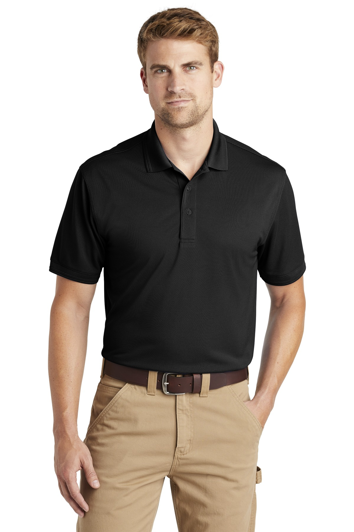 CornerStone  ®  Industrial Snag-Proof Pique Polo. CS4020 - Black