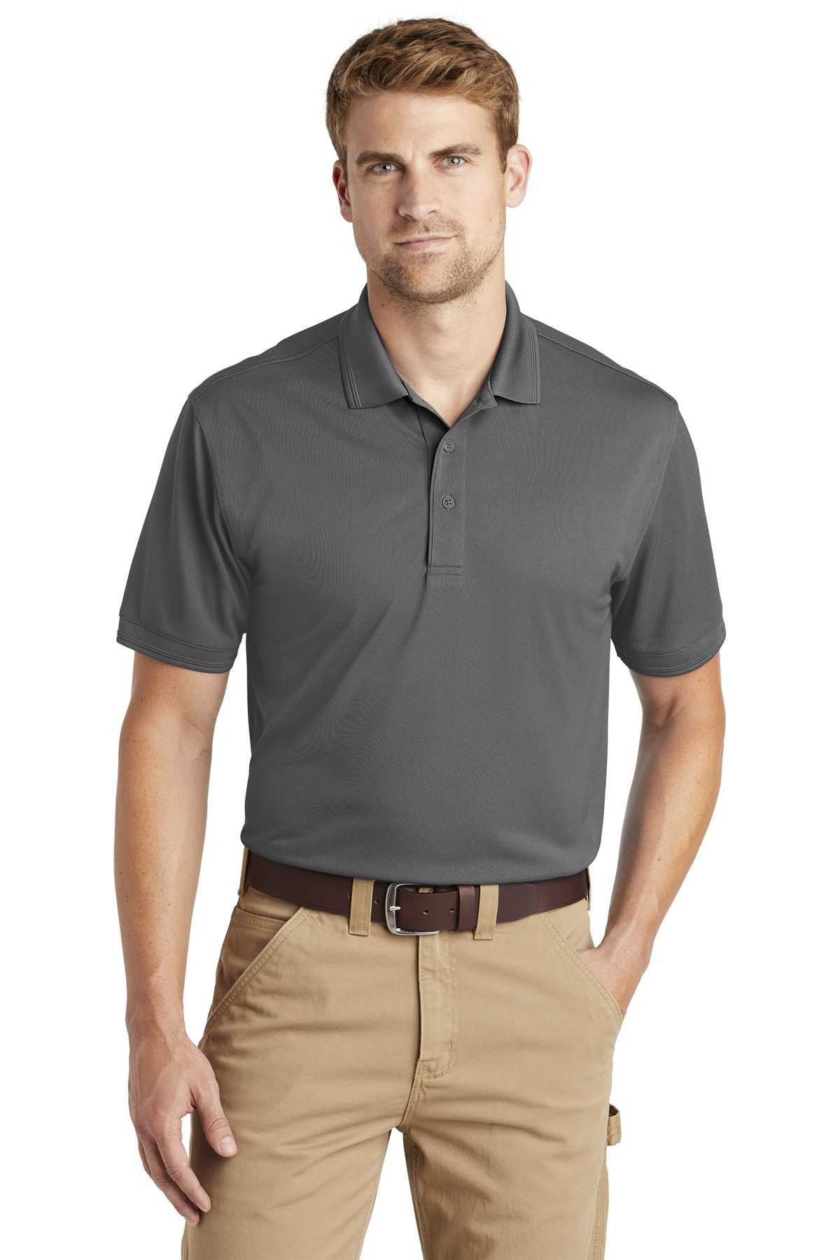 CornerStone  ®  Industrial Snag-Proof Pique Polo. CS4020 - Charcoal