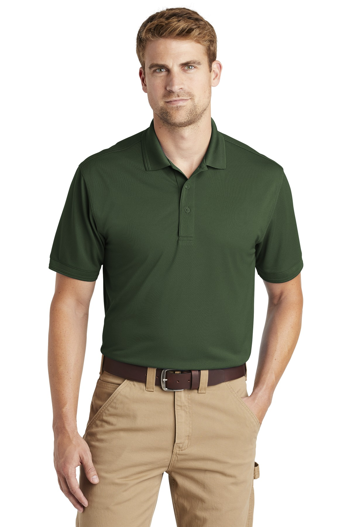 CornerStone  ®  Industrial Snag-Proof Pique Polo. CS4020 - Dark Green