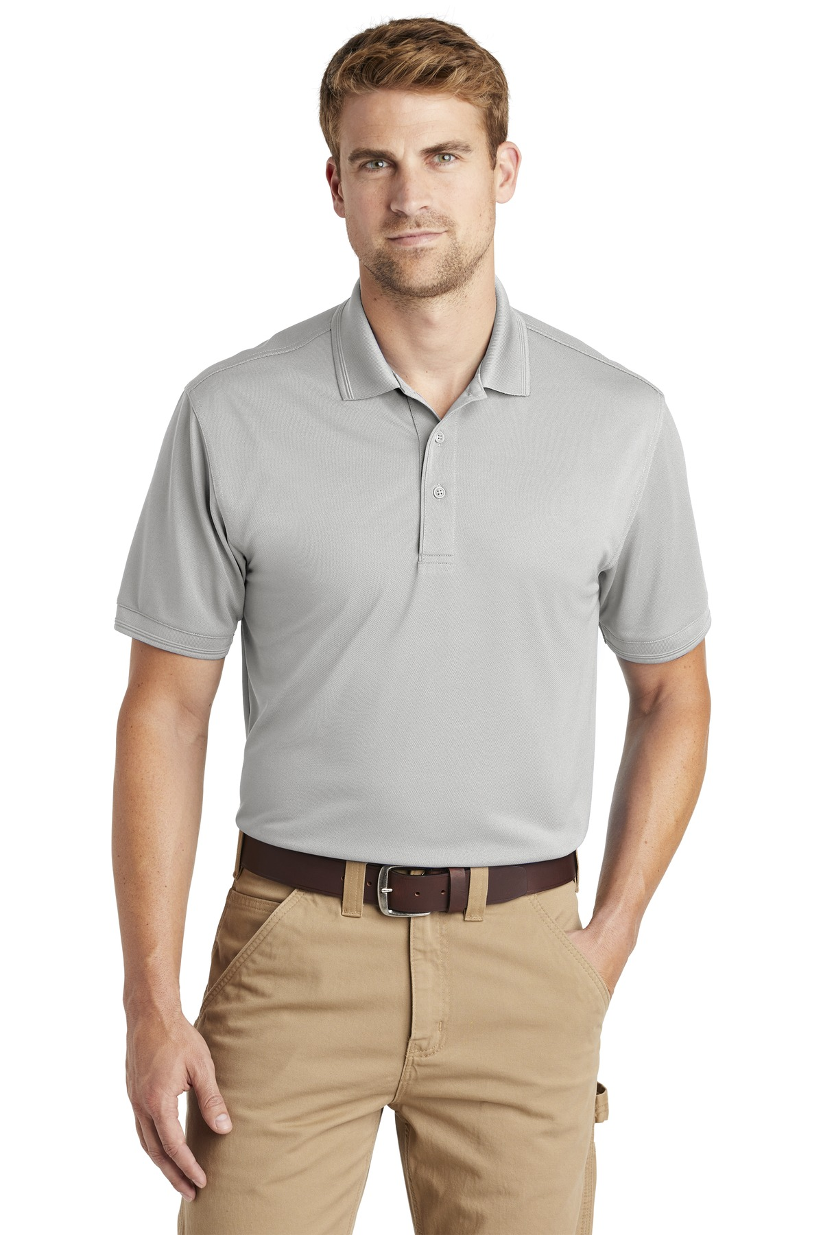 CornerStone  ®  Industrial Snag-Proof Pique Polo. CS4020 - Light Grey