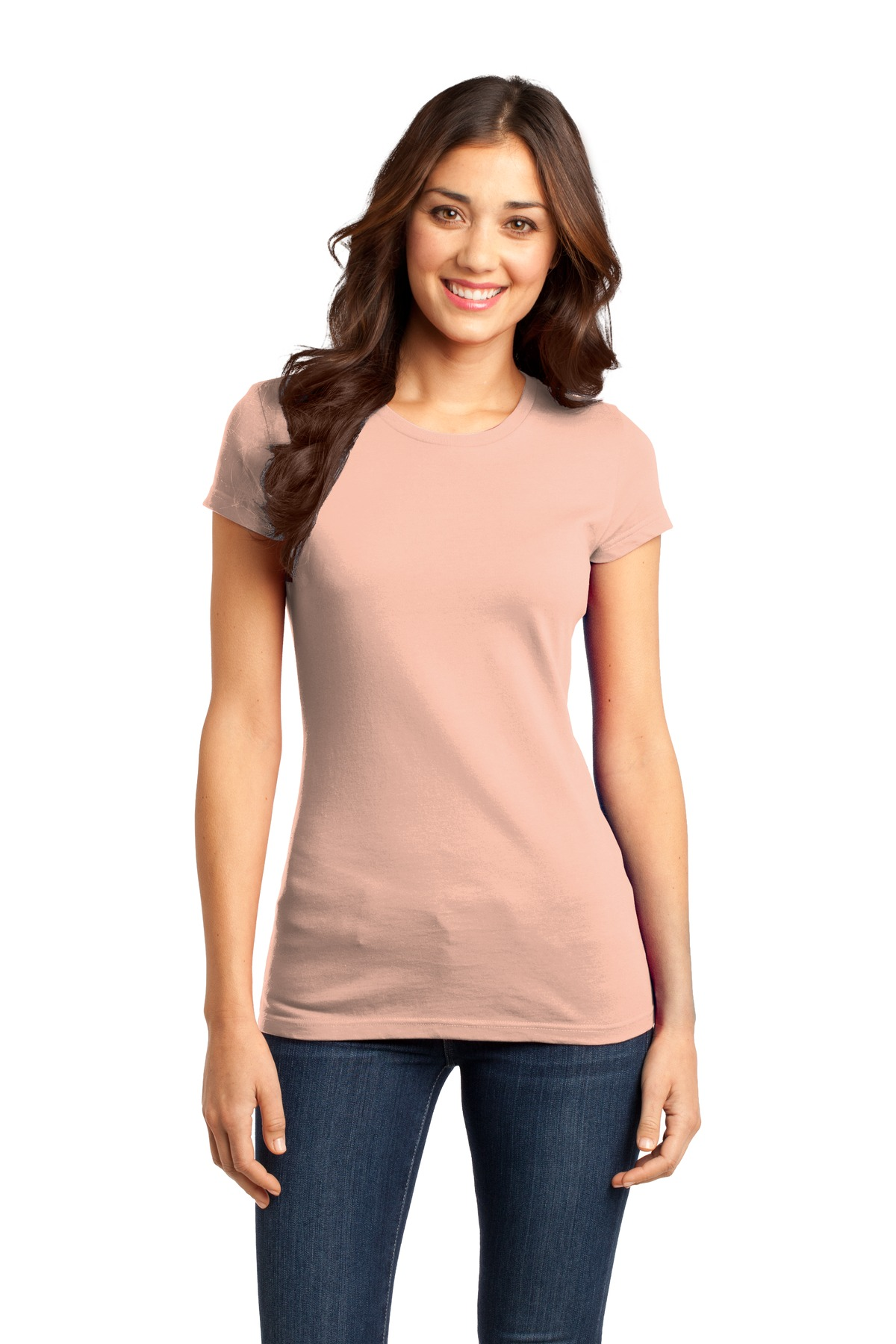 District ®  Women's Fitted Very Important Tee ® . DT6001 - Dusty Peach