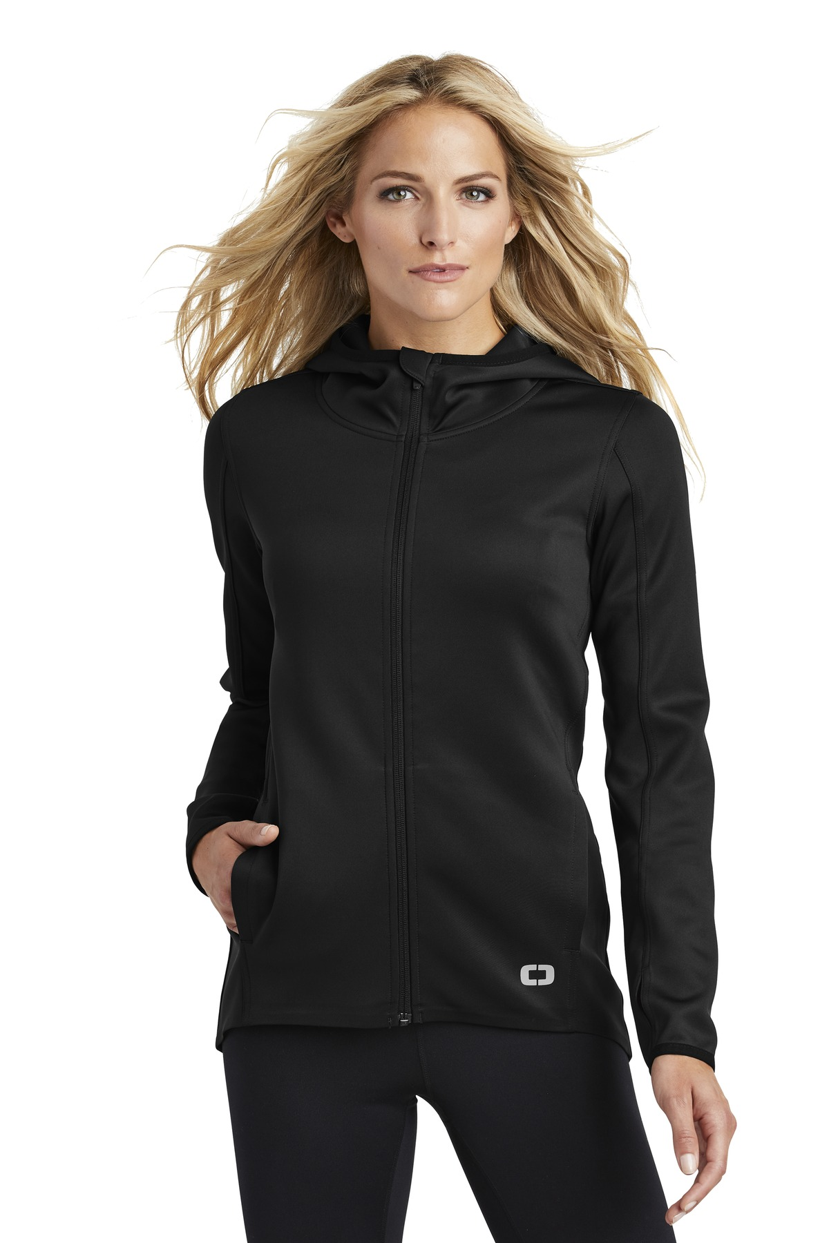 OGIO  ®  ENDURANCE Ladies Stealth Full-Zip Jacket. LOE728 - Blacktop