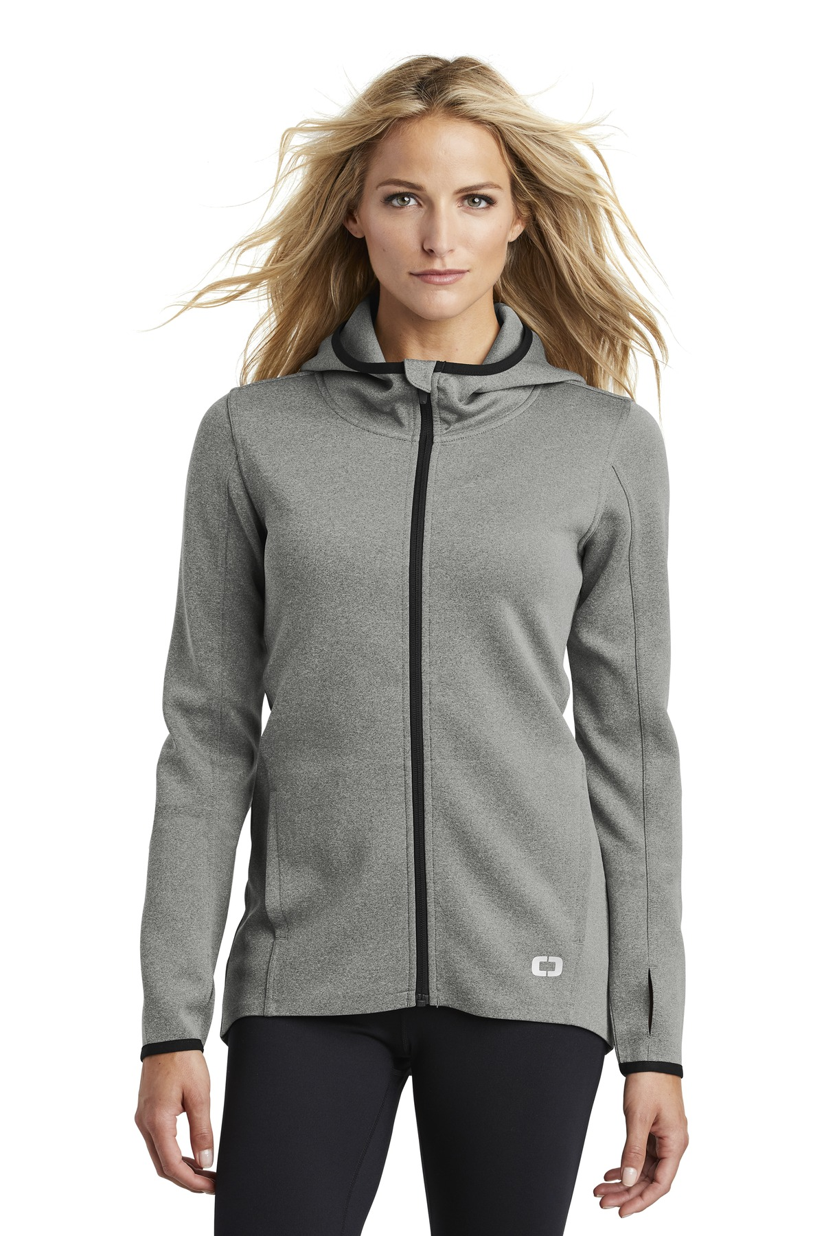 OGIO  ®  ENDURANCE Ladies Stealth Full-Zip Jacket. LOE728 - Heather Grey