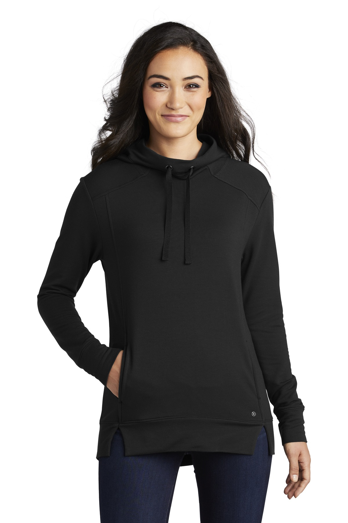 OGIO  ®  Ladies Luuma Pullover Fleece Hoodie. LOG810 - Blacktop