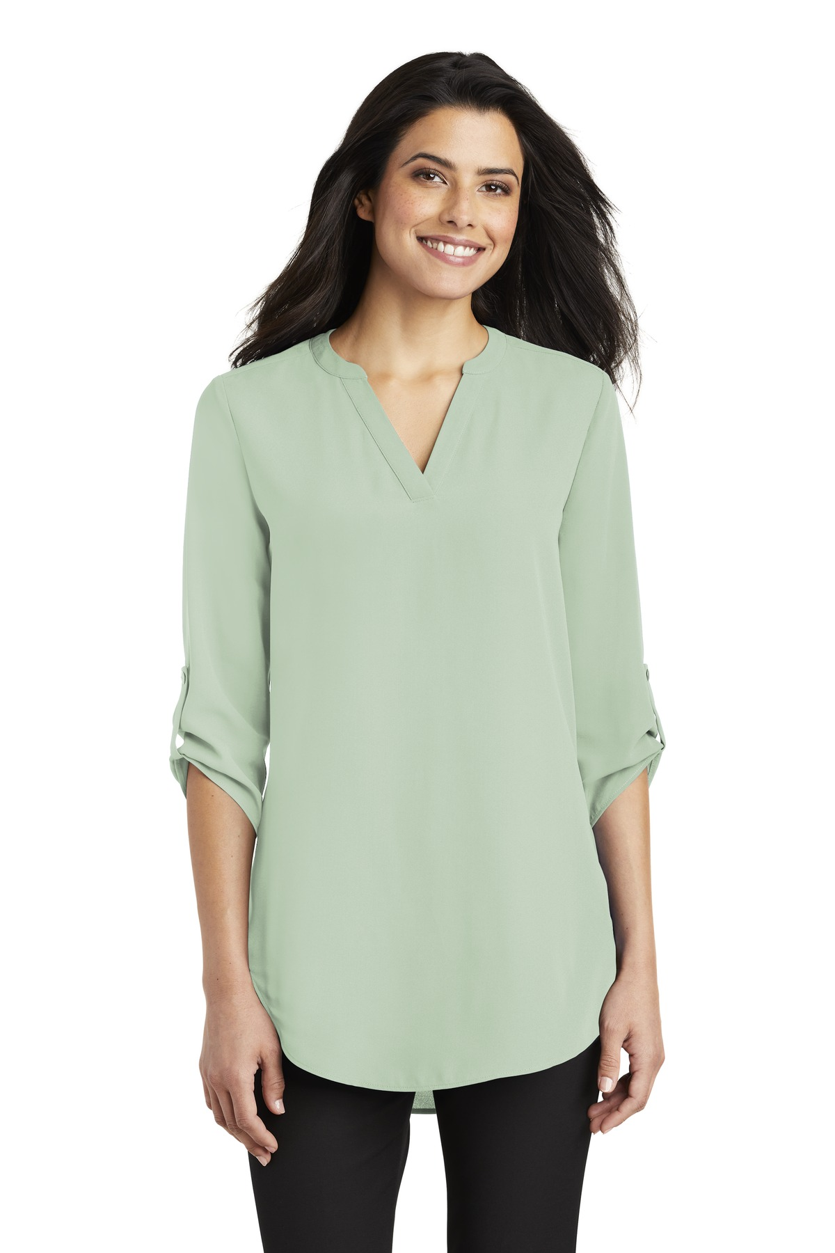 Port Authority ®  Ladies 3/4-Sleeve Tunic Blouse. LW701 - Misty Sage