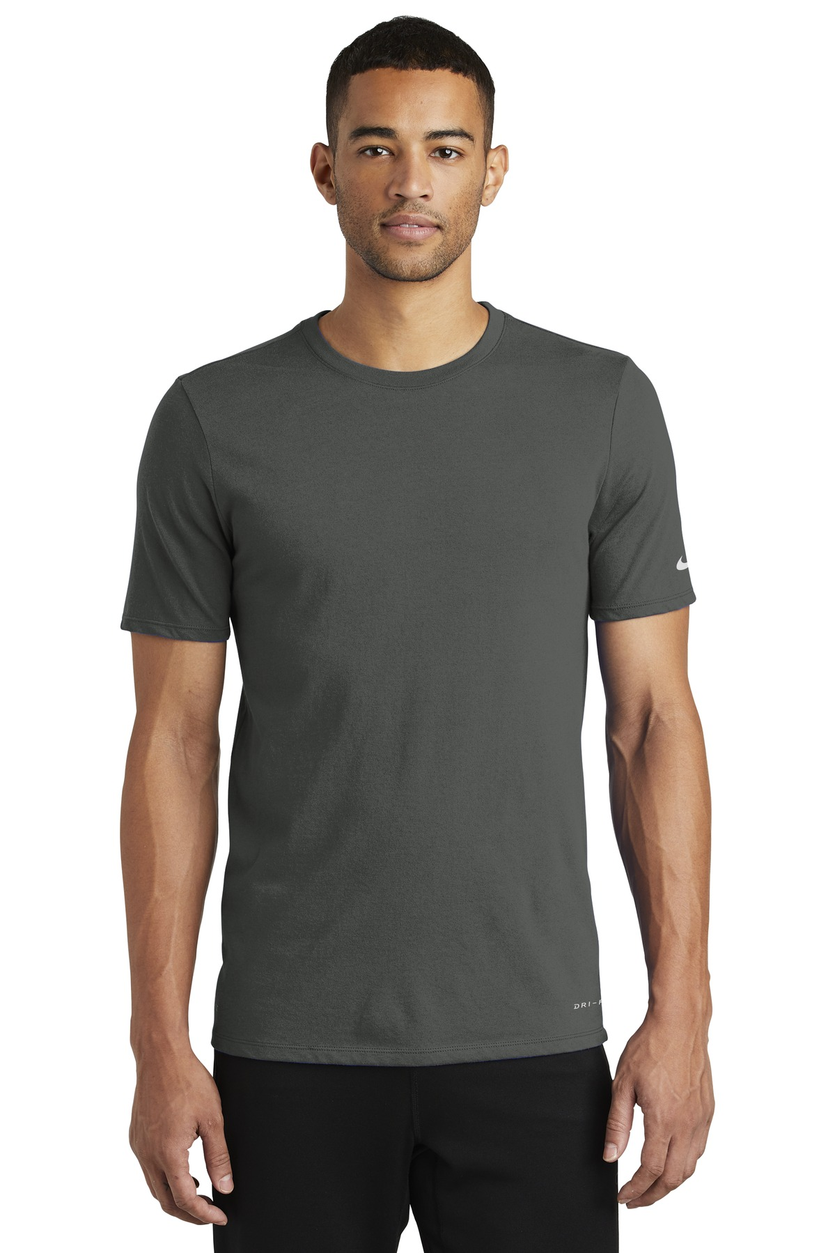Nike Dri-FIT Cotton/Poly Tee. NKBQ5231 - Anthracite