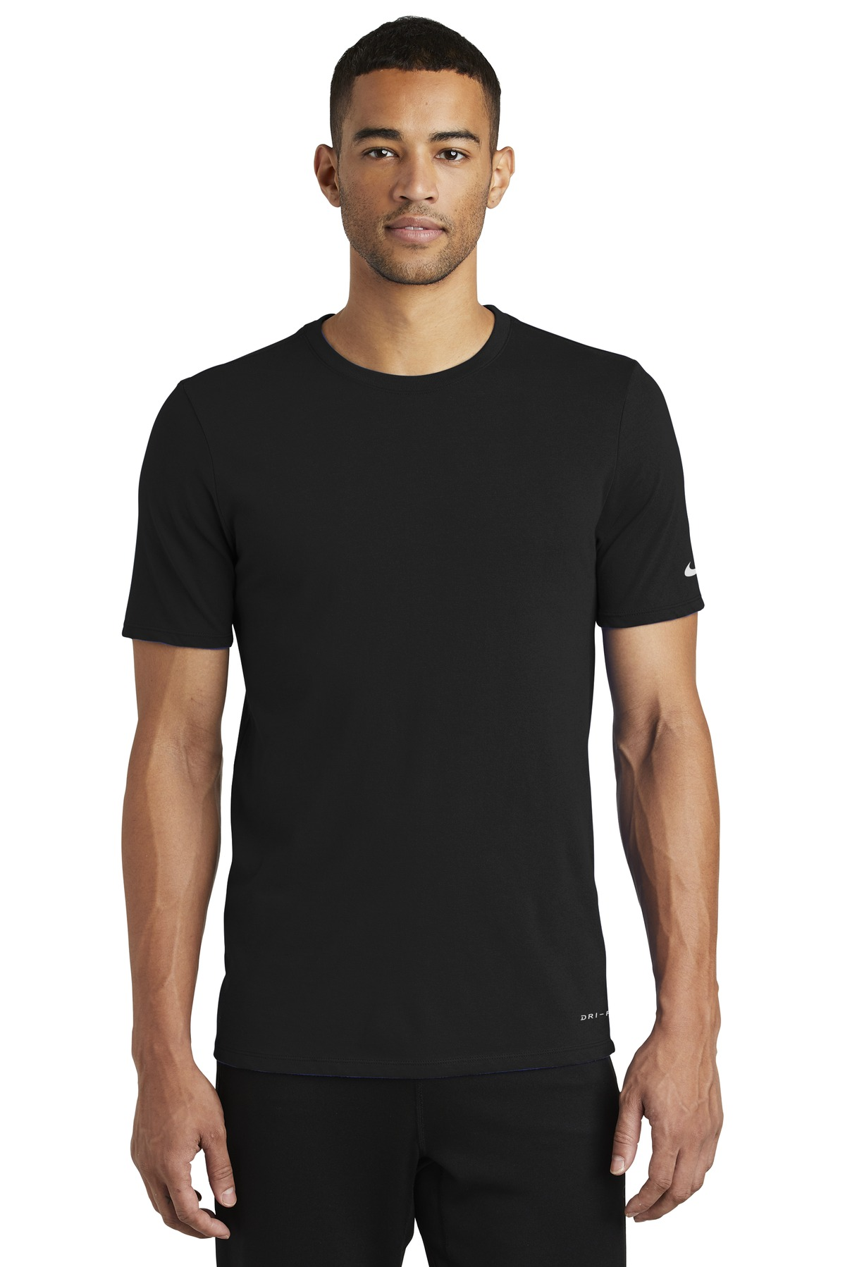 Nike Dri-FIT Cotton/Poly Tee. NKBQ5231 - Black