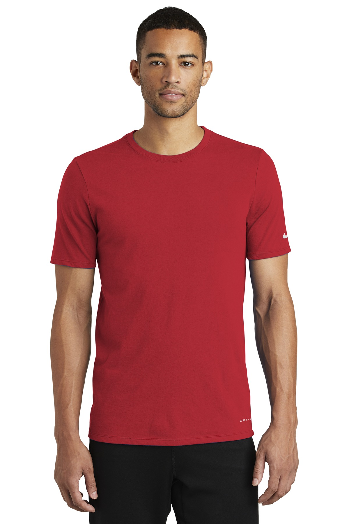 Nike Dri-FIT Cotton/Poly Tee. NKBQ5231 - Gym Red
