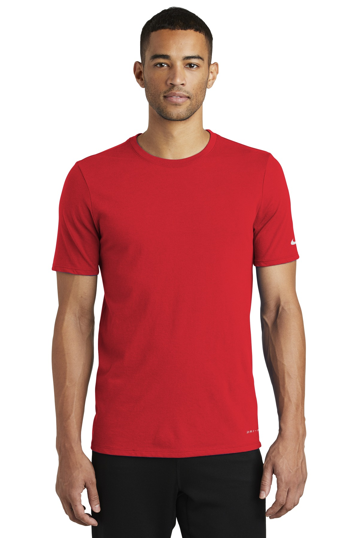 Nike Dri-FIT Cotton/Poly Tee. NKBQ5231 - University Red