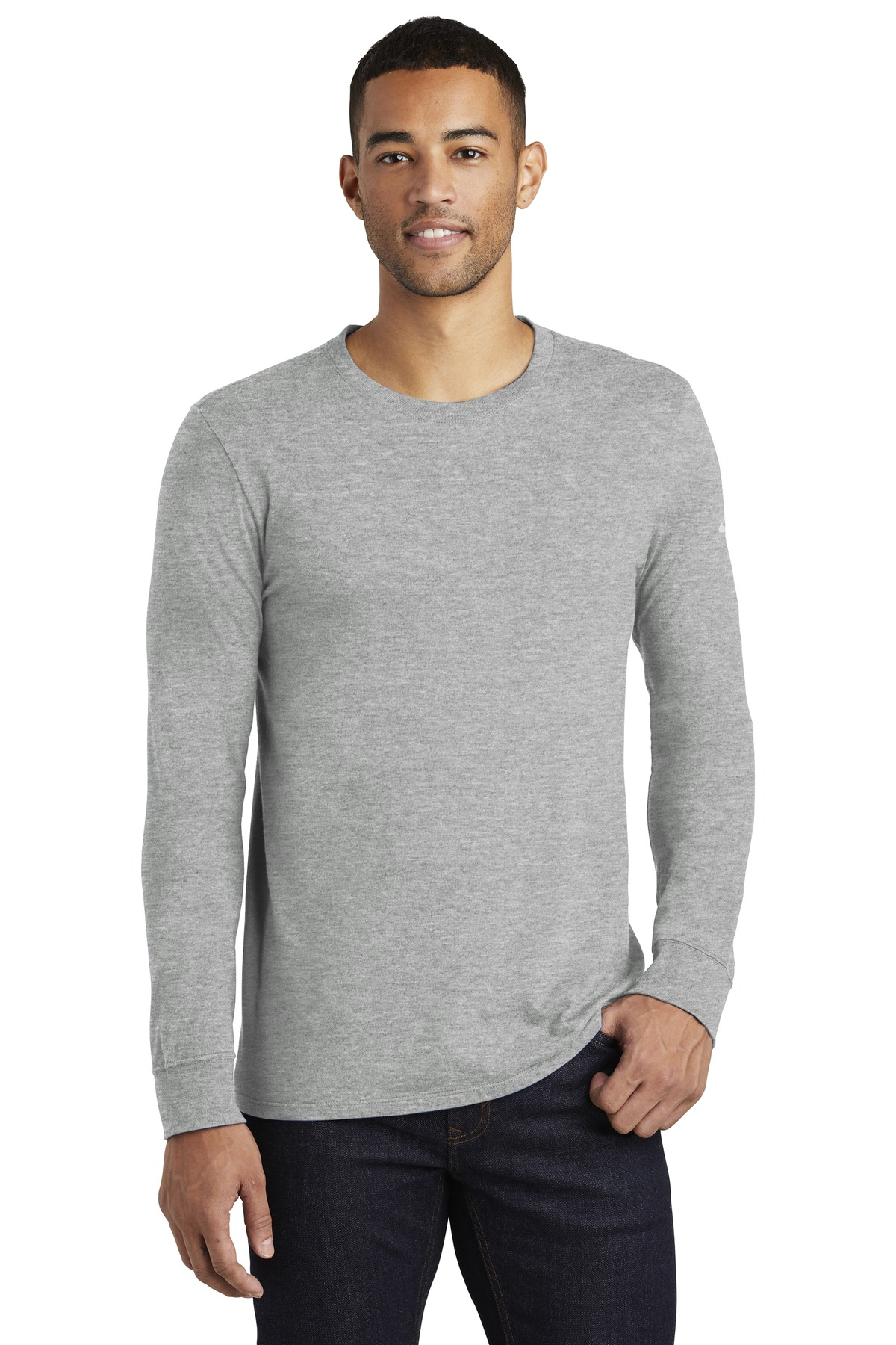Nike Core Cotton Long Sleeve Tee. NKBQ5232 - Dark Grey Heather