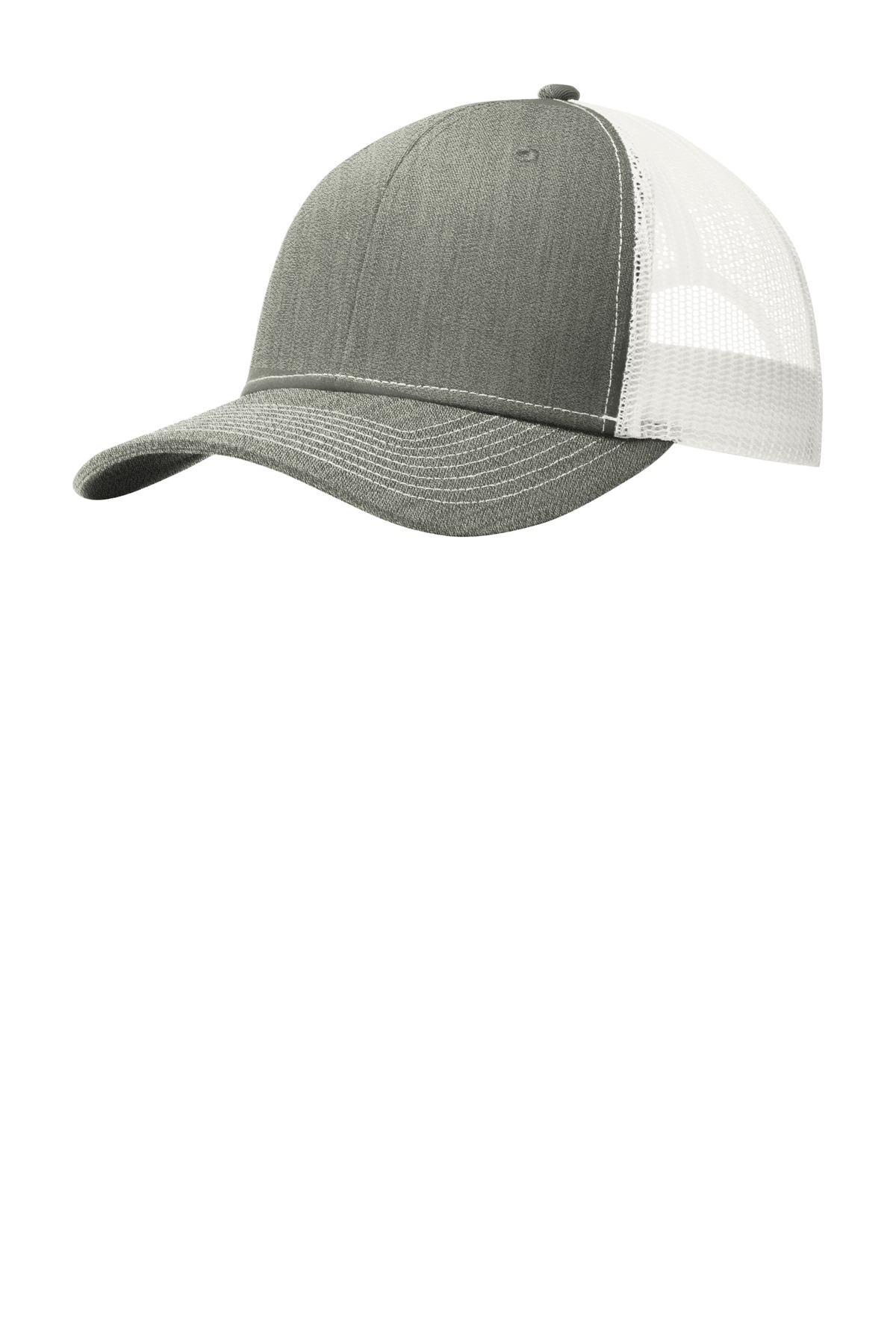 Port Authority ®  Snapback Trucker Cap. C112 - Heather Grey/ White