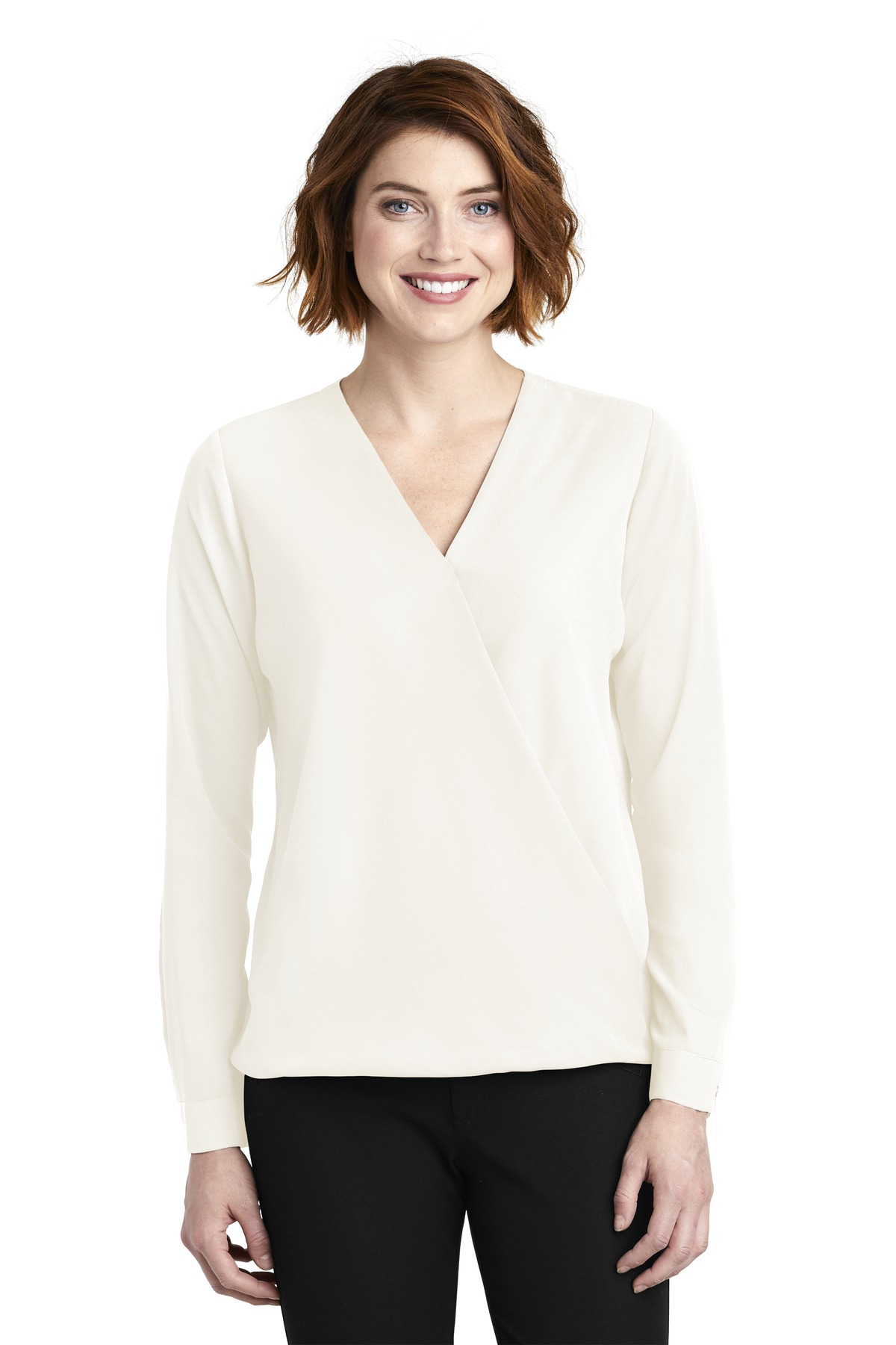 Port Authority Ladies Wrap Blouse. LW702