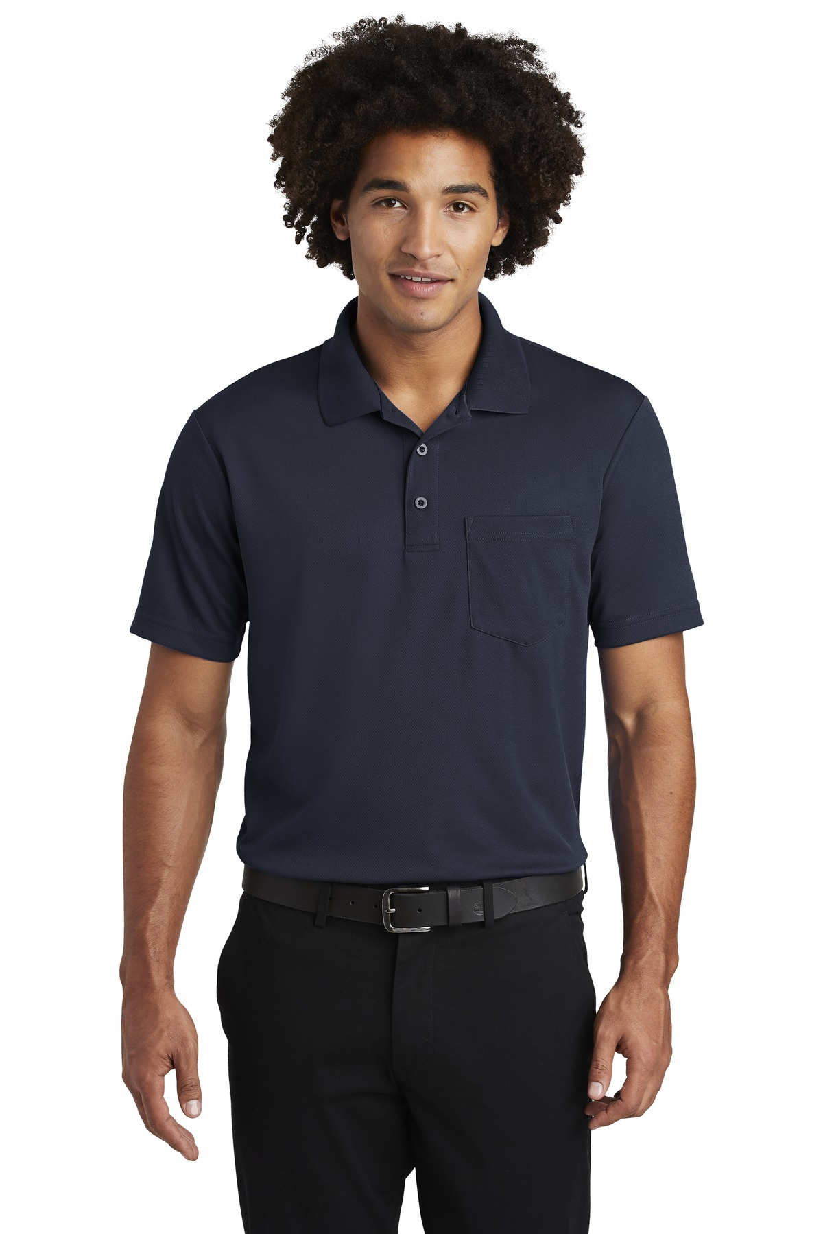 Sport-Tek  ®  PosiCharge  ®  RacerMesh  ®  Pocket Polo. ST640P - True Navy