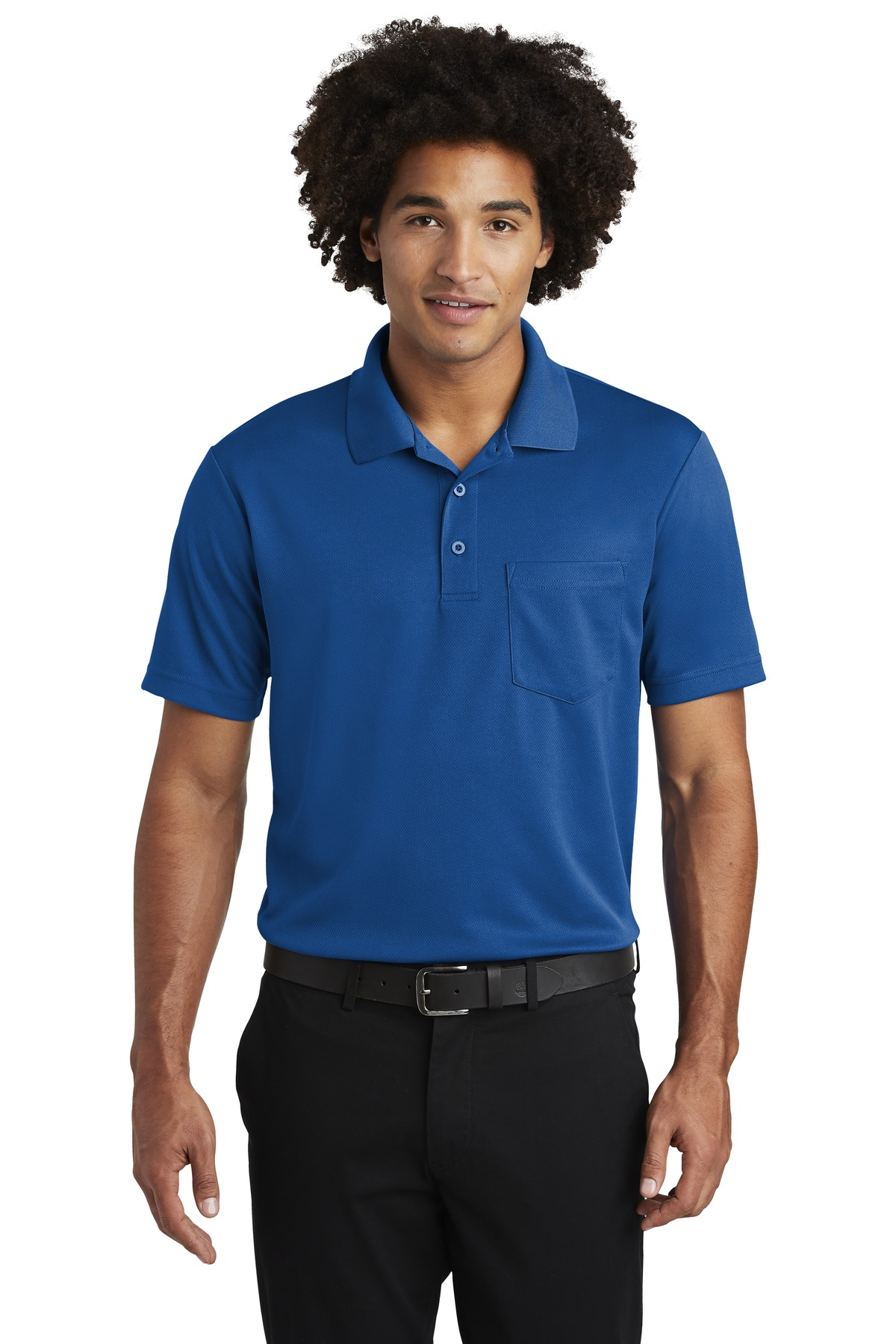 Sport-Tek  ®  PosiCharge  ®  RacerMesh  ®  Pocket Polo. ST640P - True Royal