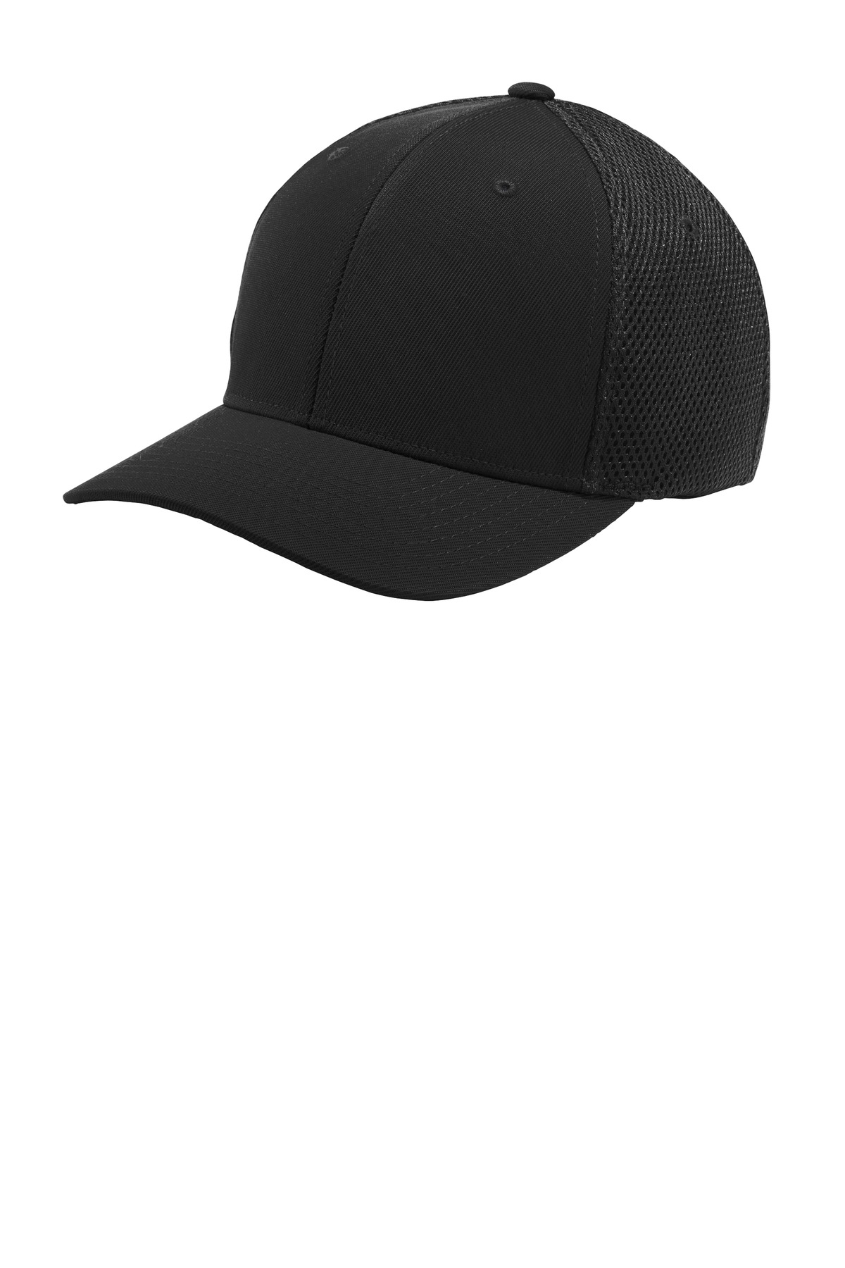 Sport-Tek  ®  Flexfit  ®  Air Mesh Back Cap. STC40 - Black/ Black