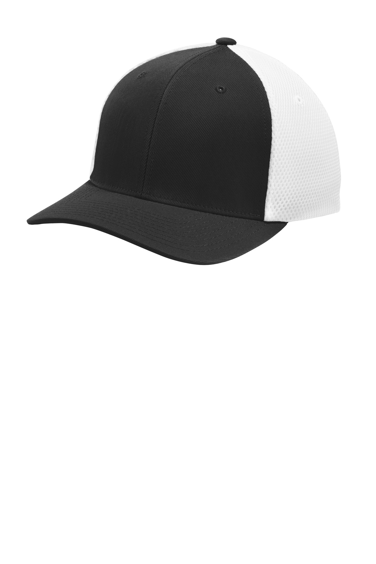 Sport-Tek  ®  Flexfit  ®  Air Mesh Back Cap. STC40 - Black/ White