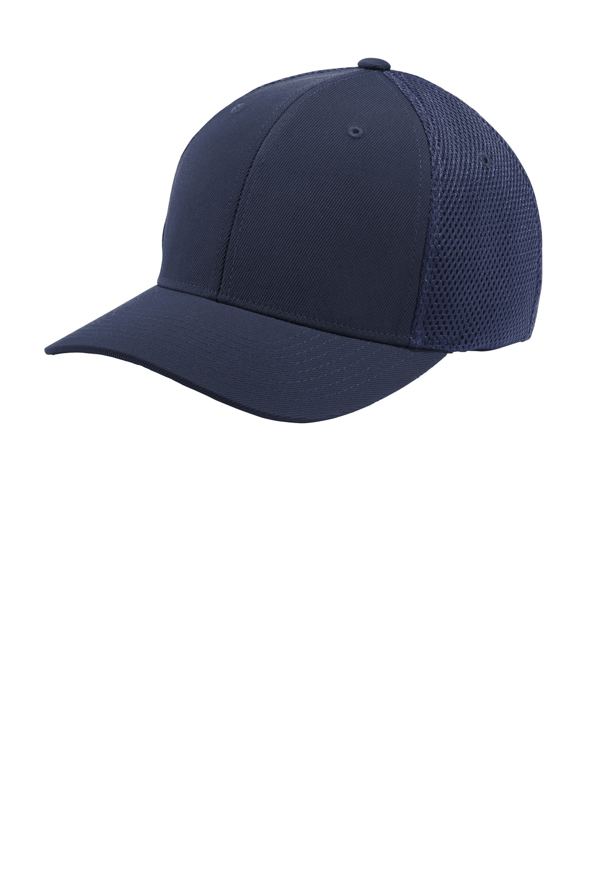 Sport-Tek  ®  Flexfit  ®  Air Mesh Back Cap. STC40 - True Navy/ True Navy