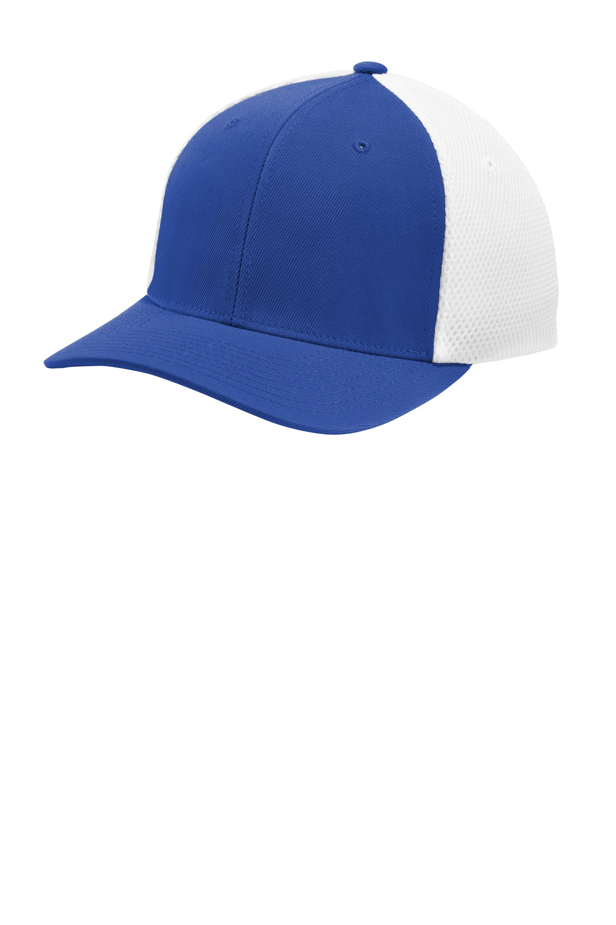Sport-Tek  ®  Flexfit  ®  Air Mesh Back Cap. STC40 - True Royal/ White