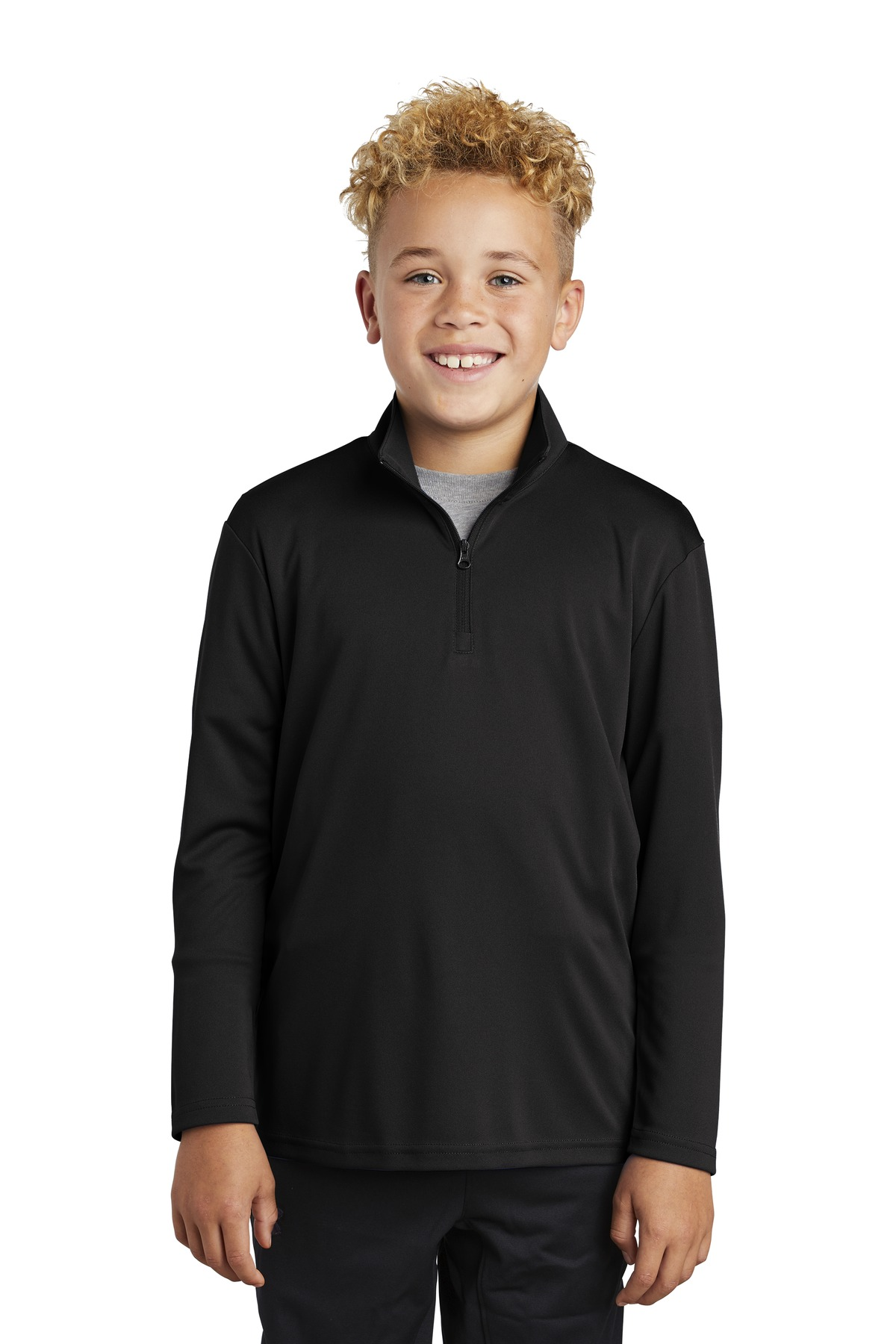 Sport-Tek  ®  Youth PosiCharge  ®  Competitor  ™  1/4-Zip Pullover. YST357 - Black