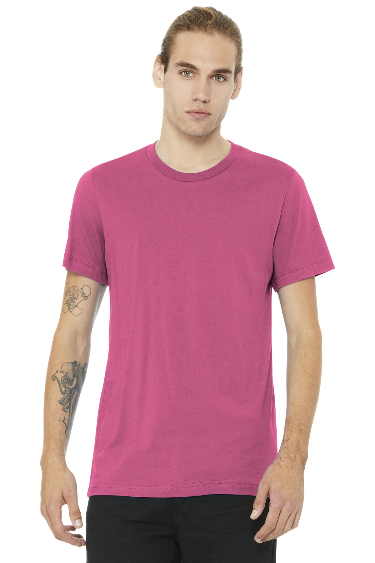 BELLA+CANVAS  ®  Unisex Jersey Short Sleeve Tee. BC3001 - Charity Pink