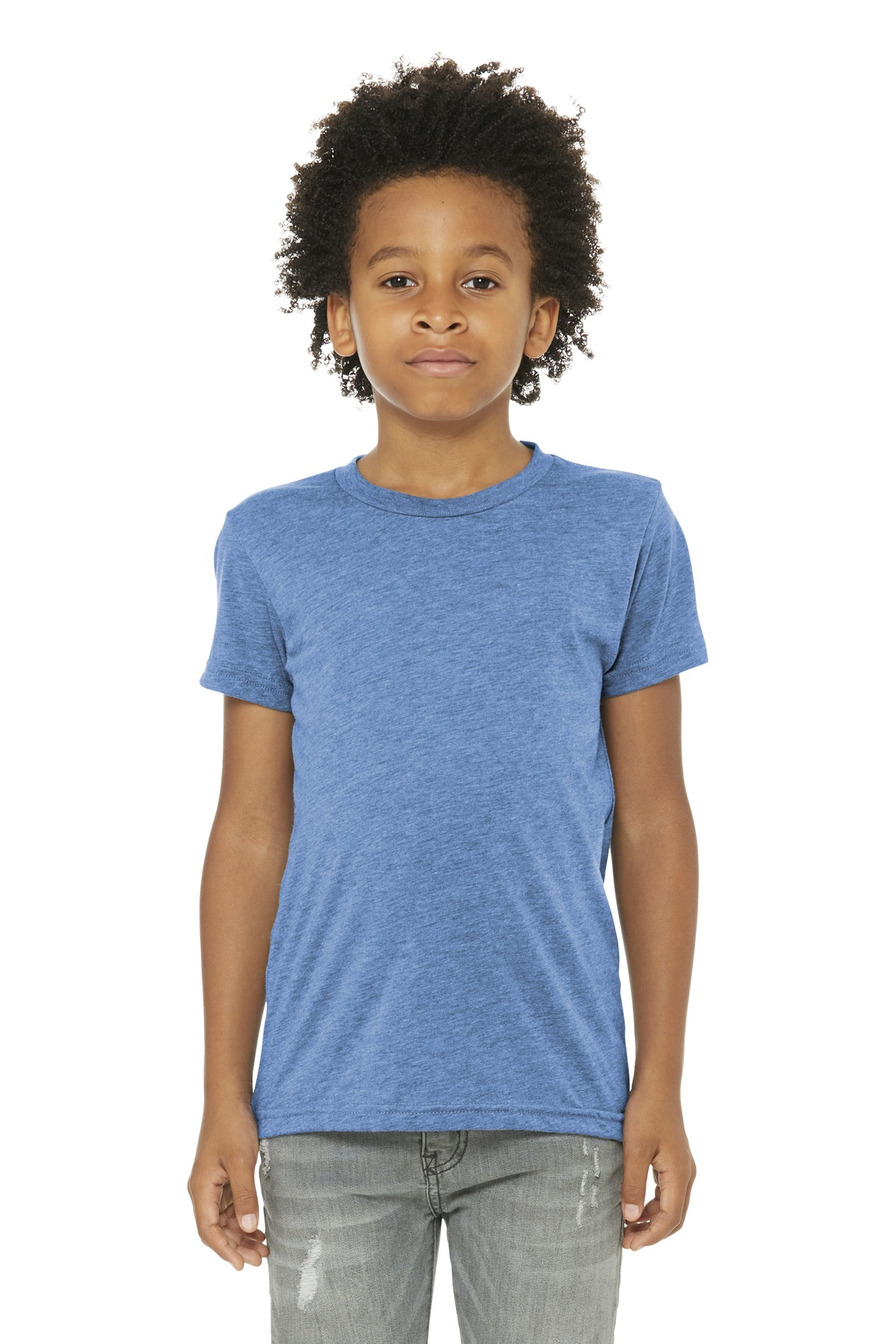 BELLA+CANVAS  ®  Youth Triblend Short Sleeve Tee. BC3413Y - Blue Triblend