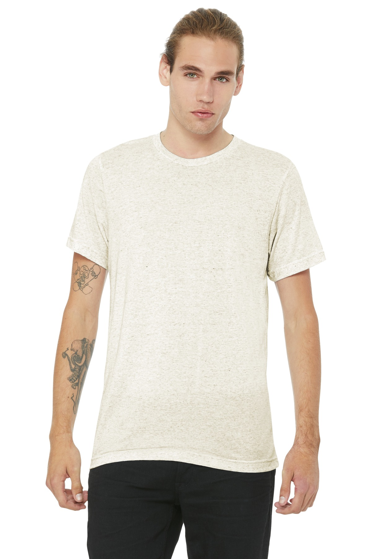 BELLA+CANVAS  ®  Unisex Triblend Short Sleeve Tee. BC3413 - Oatmeal Triblend
