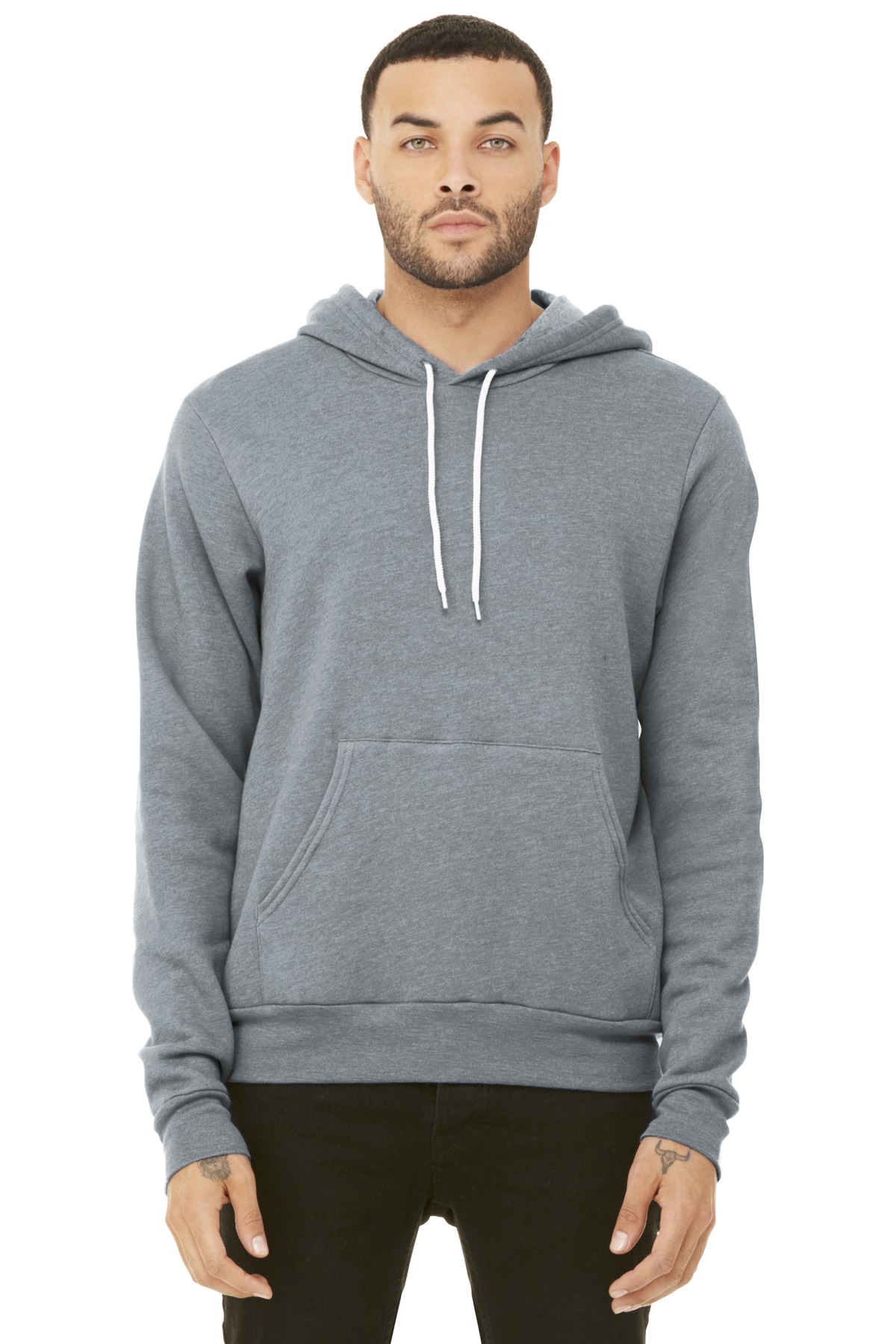 BELLA+CANVAS  ®  Unisex Sponge Fleece Pullover Hoodie. BC3719 - Athletic Heather