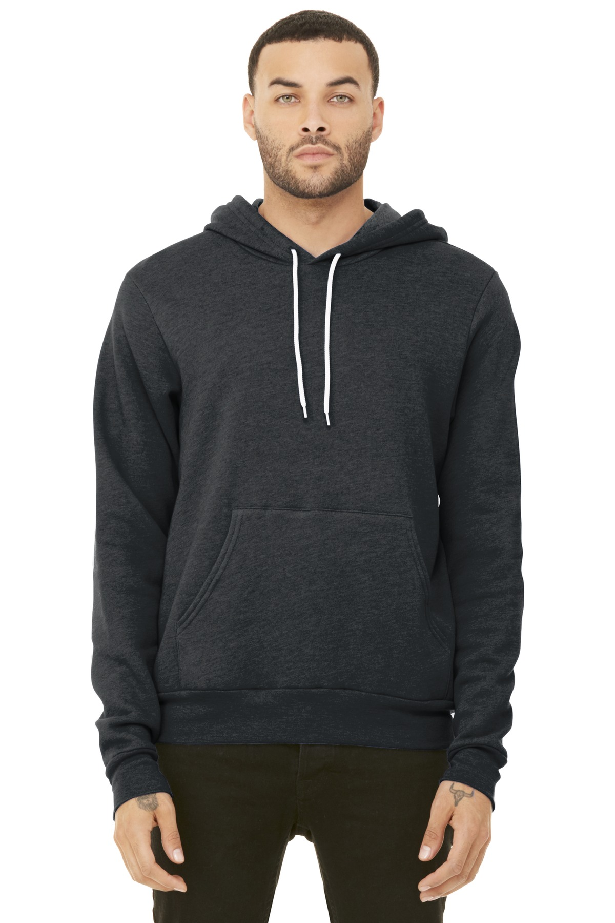 BELLA+CANVAS  ®  Unisex Sponge Fleece Pullover Hoodie. BC3719 - Dark Grey Heather