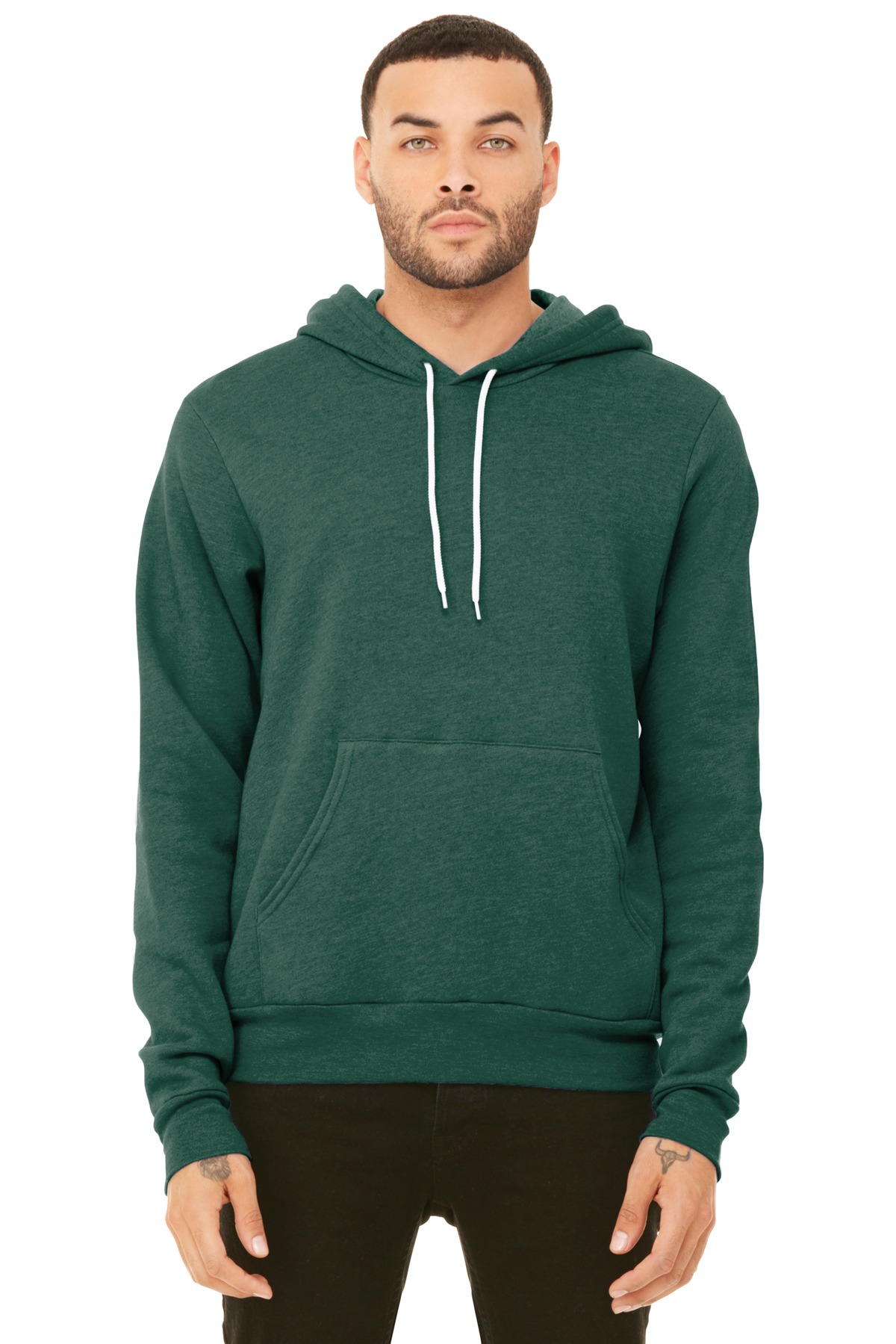 BELLA+CANVAS  ®  Unisex Sponge Fleece Pullover Hoodie. BC3719 - Heather Forest