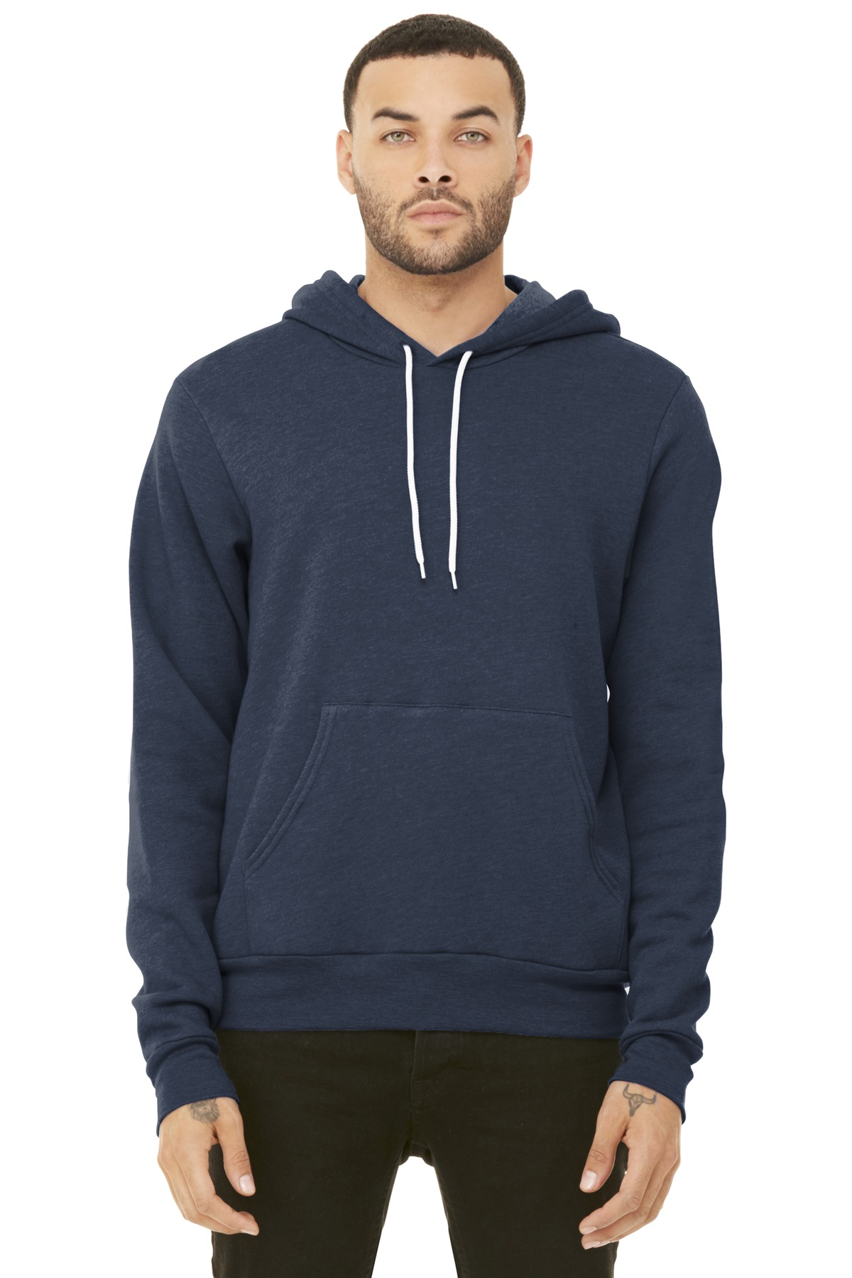BELLA+CANVAS  ®  Unisex Sponge Fleece Pullover Hoodie. BC3719 - Heather Navy