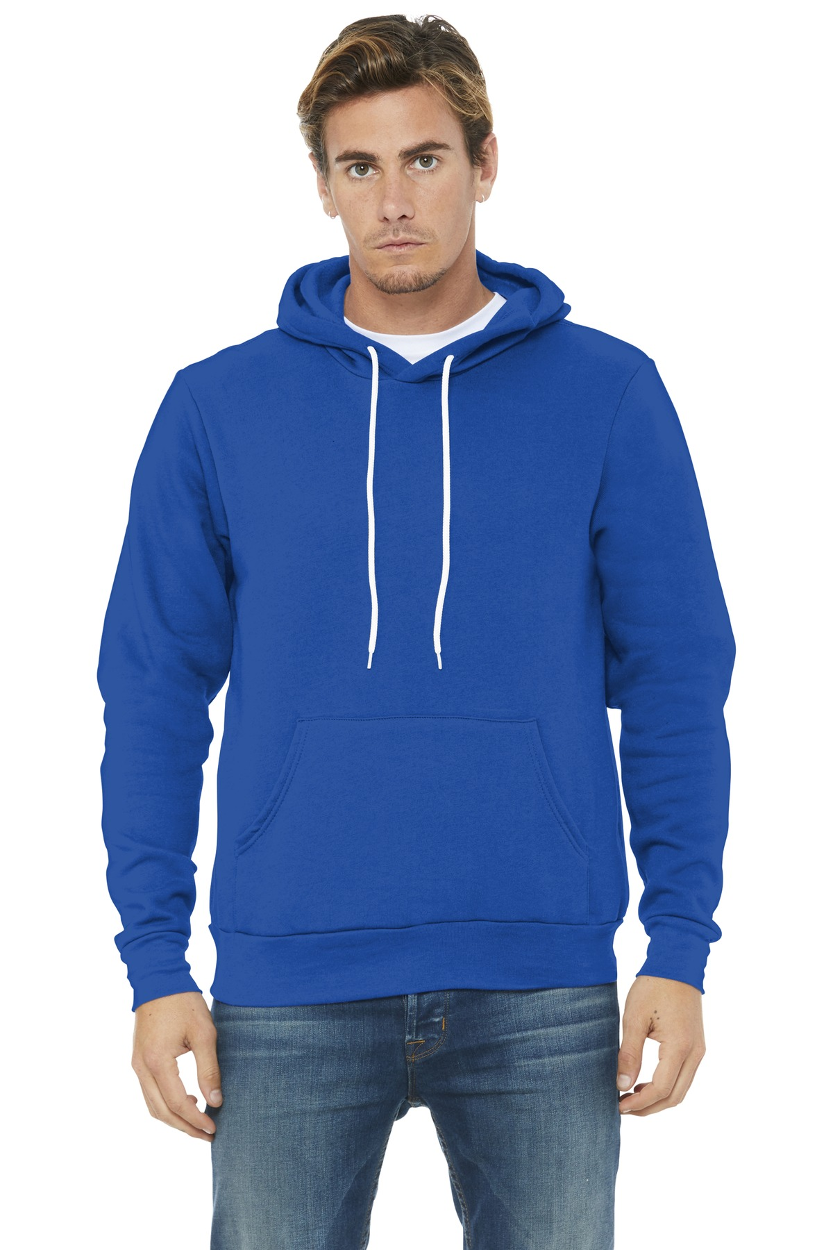 BELLA+CANVAS  ®  Unisex Sponge Fleece Pullover Hoodie. BC3719 - True Royal