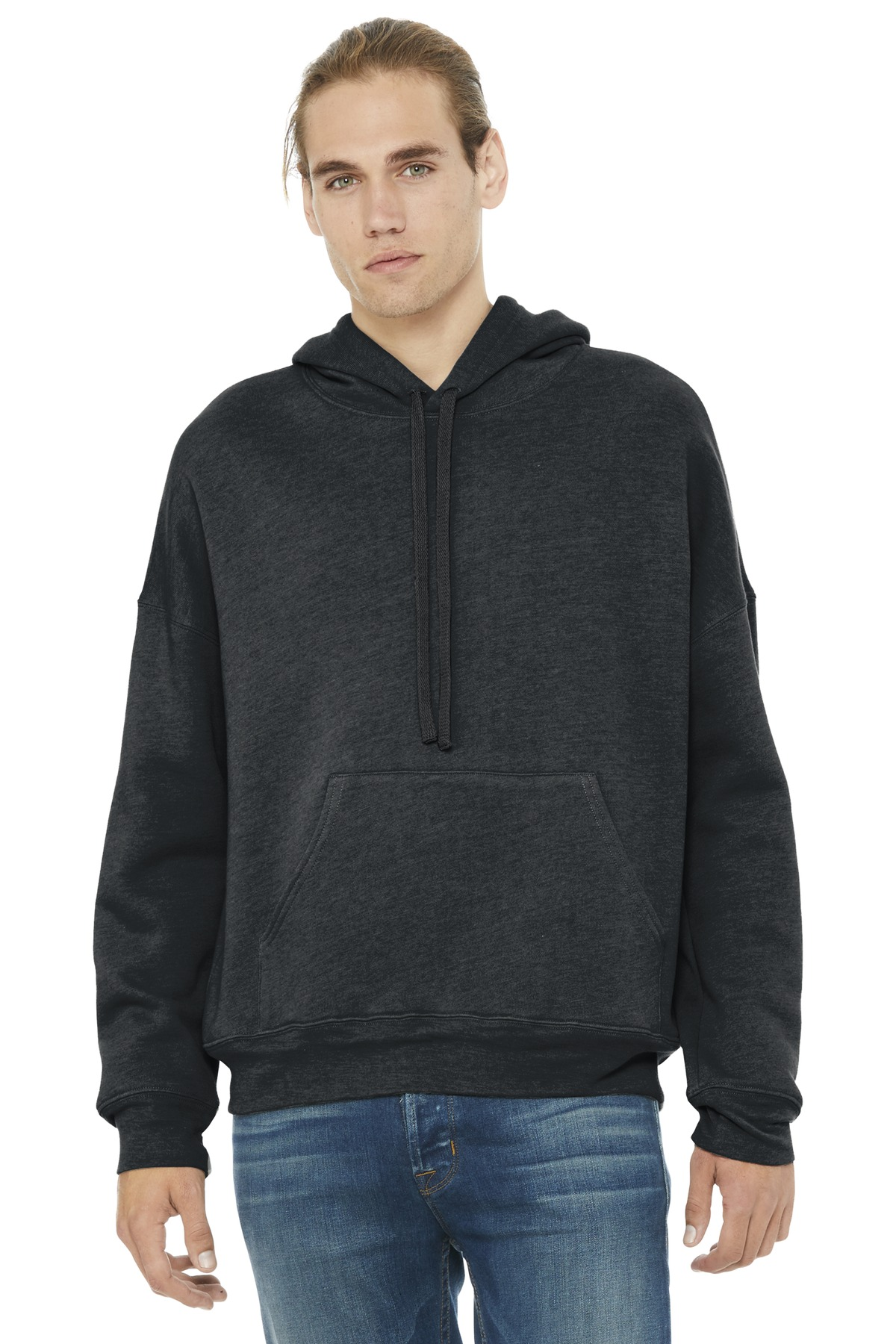 BELLA+CANVAS  ®  Unisex Sponge Fleece Pullover DTM Hoodie. BC3729 - Dark Grey Heather