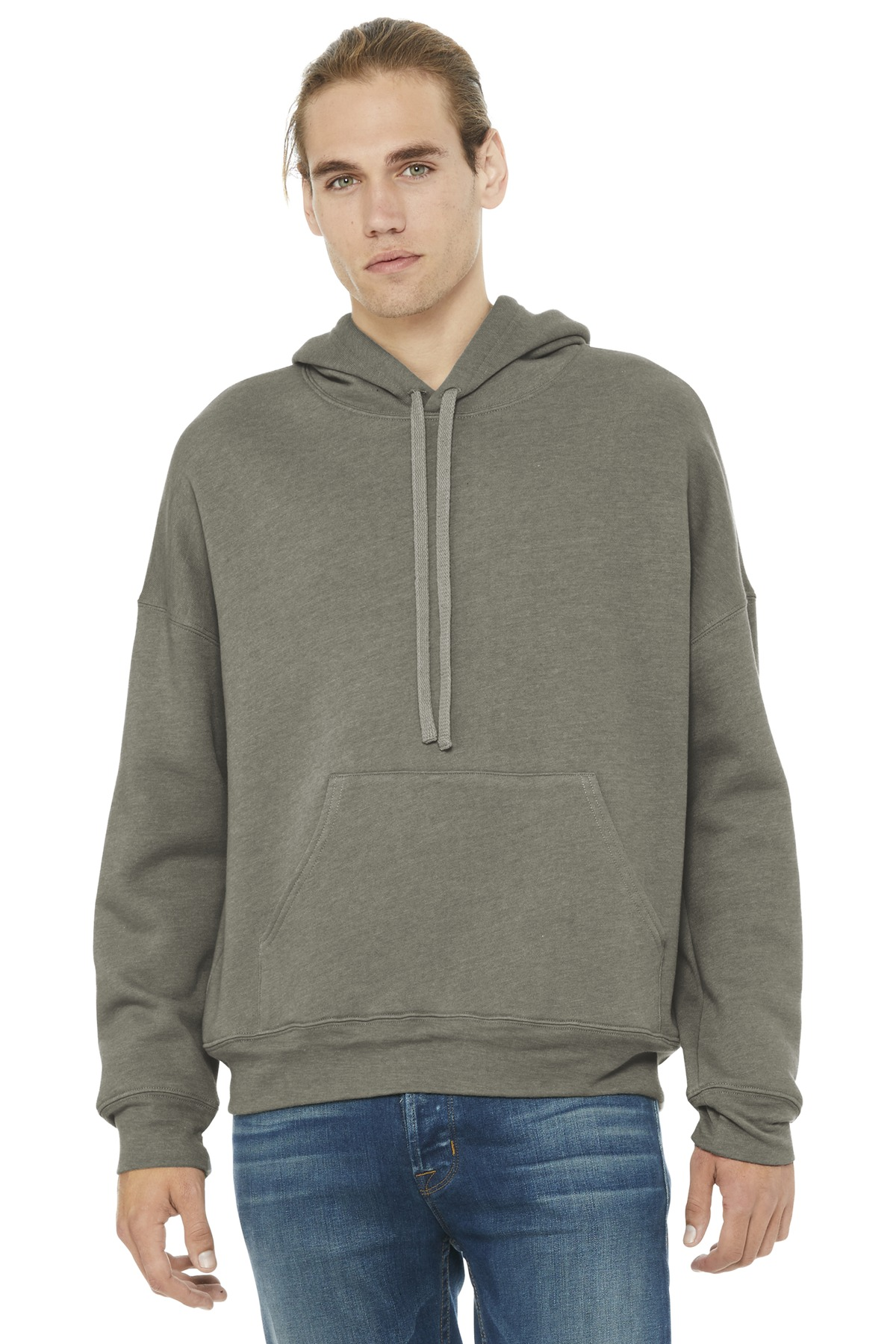BELLA+CANVAS  ®  Unisex Sponge Fleece Pullover DTM Hoodie. BC3729 - Heather Stone