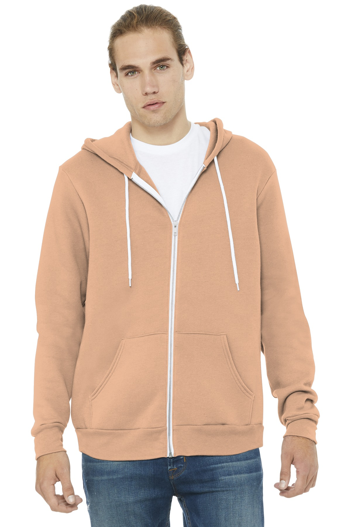 BELLA+CANVAS  ®  Unisex Sponge Fleece Full-Zip Hoodie. BC3739 - Peach
