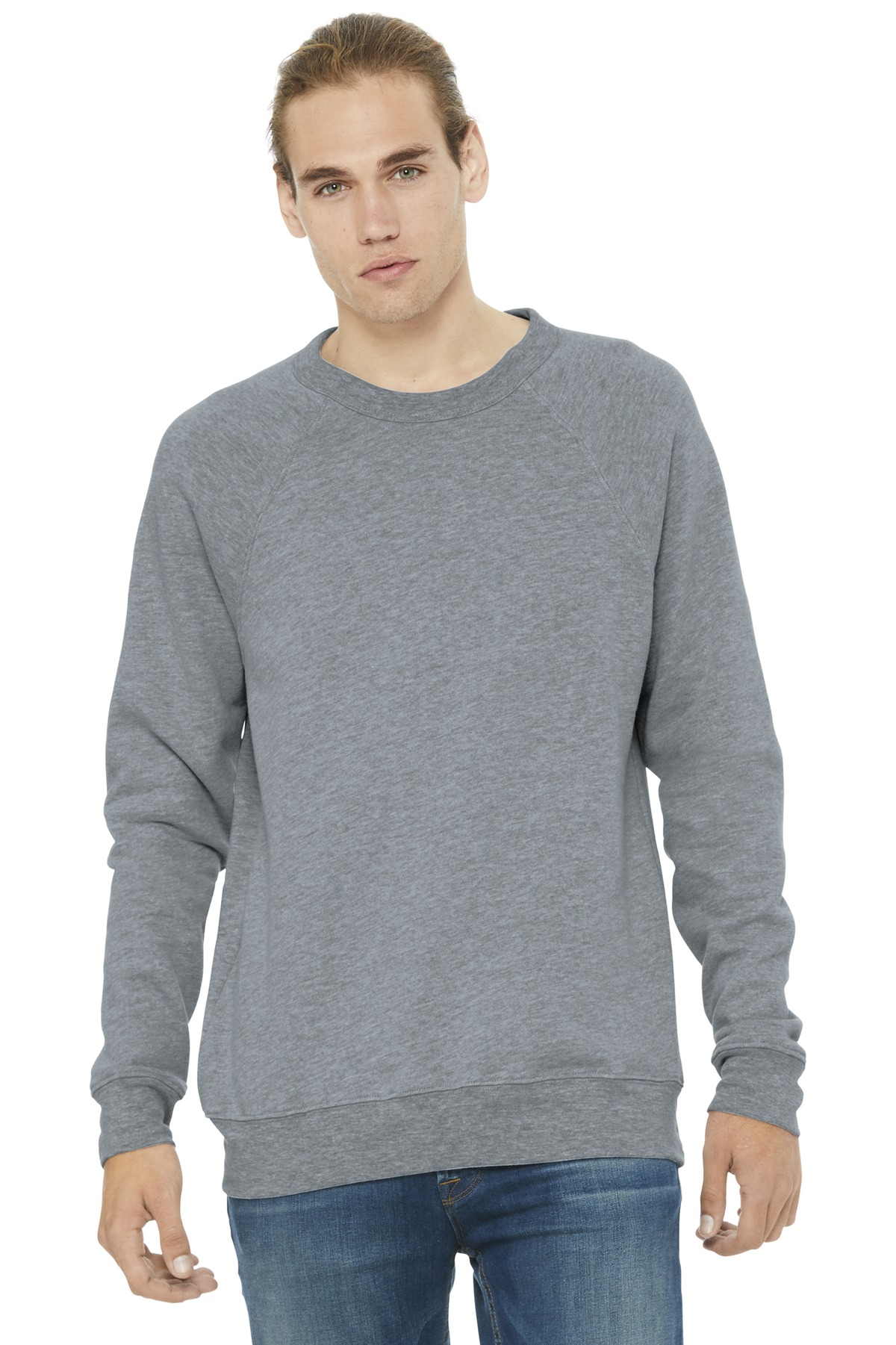 BELLA+CANVAS  ®  Unisex Sponge Fleece Raglan Sweatshirt. BC3901 - Athletic Heather