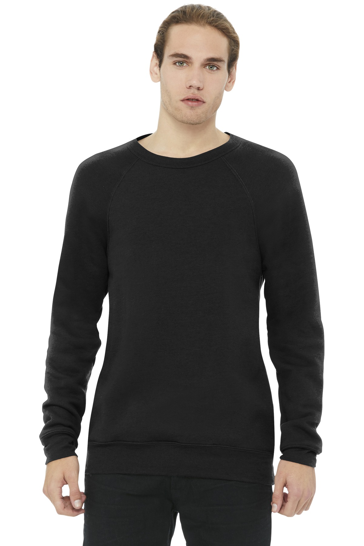 BELLA+CANVAS  ®  Unisex Sponge Fleece Raglan Sweatshirt. BC3901 - Black (Poly-Cotton)