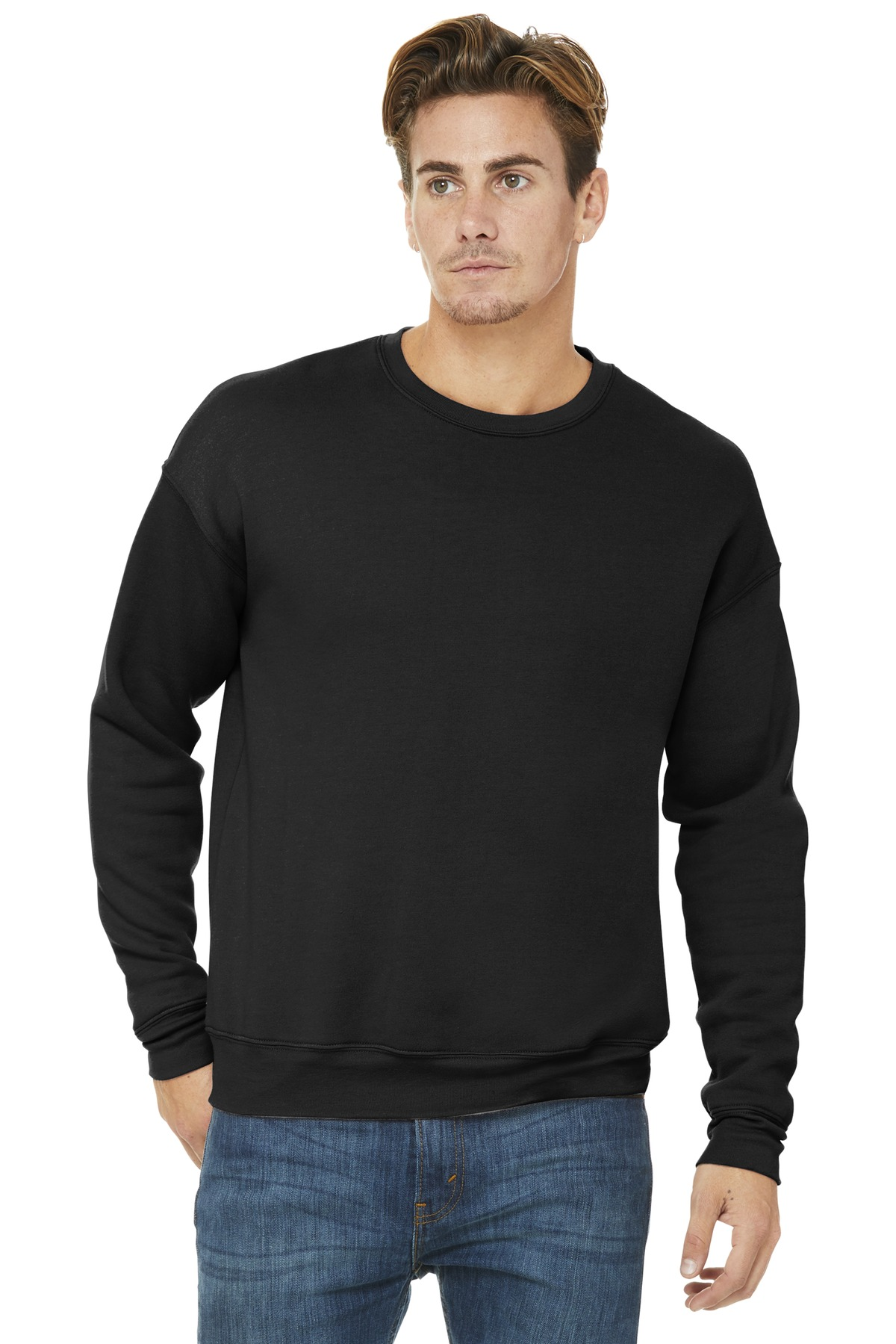 BELLA+CANVAS  ®  Unisex Sponge Fleece Drop Shoulder Sweatshirt. BC3945 - Black
