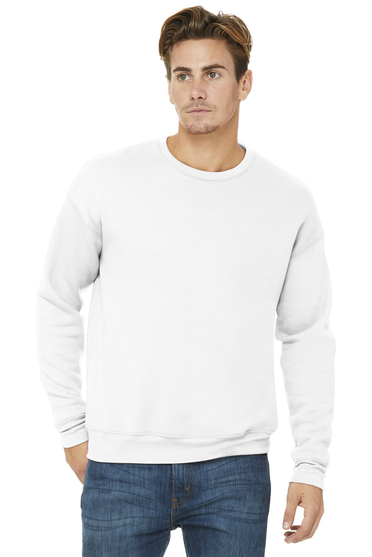 BELLA+CANVAS  ®  Unisex Sponge Fleece Drop Shoulder Sweatshirt. BC3945 - White