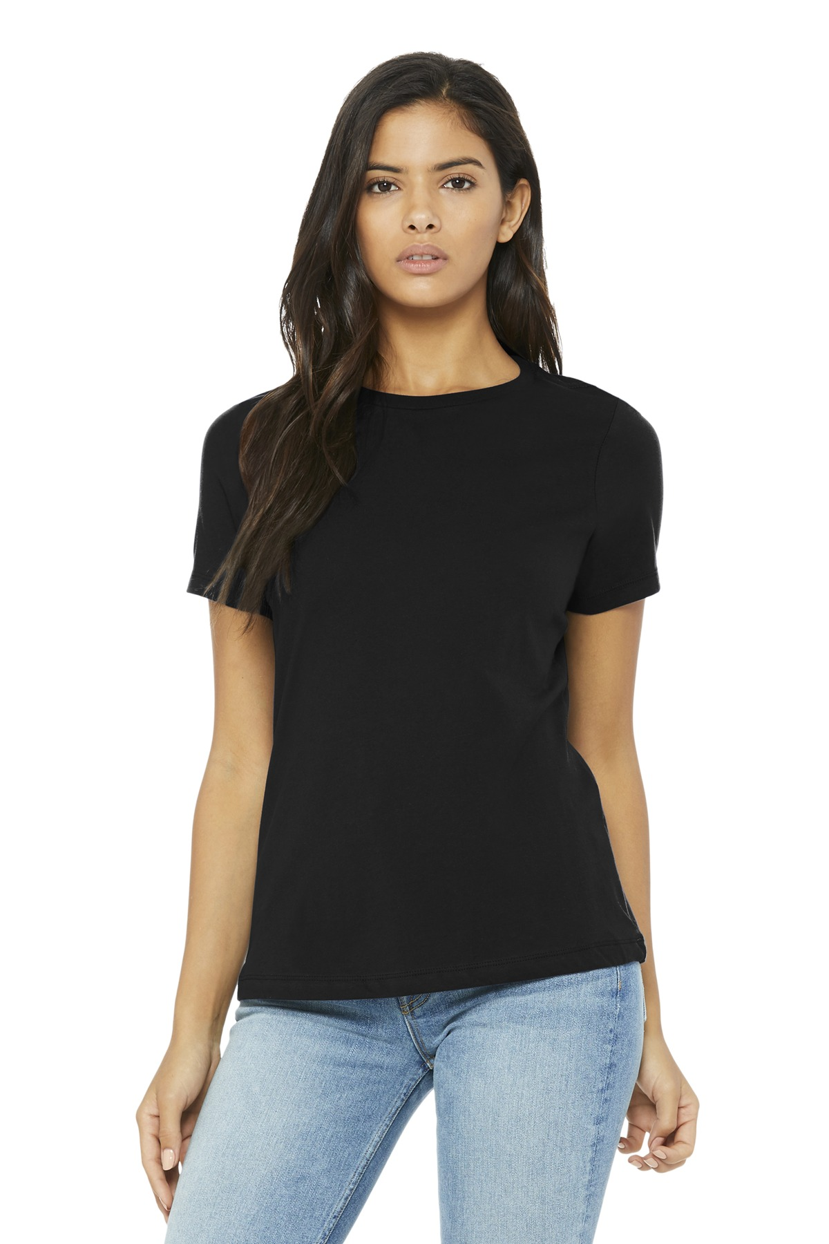 BELLA+CANVAS  ®  Women's Relaxed Jersey Short Sleeve Tee. BC6400 - Black