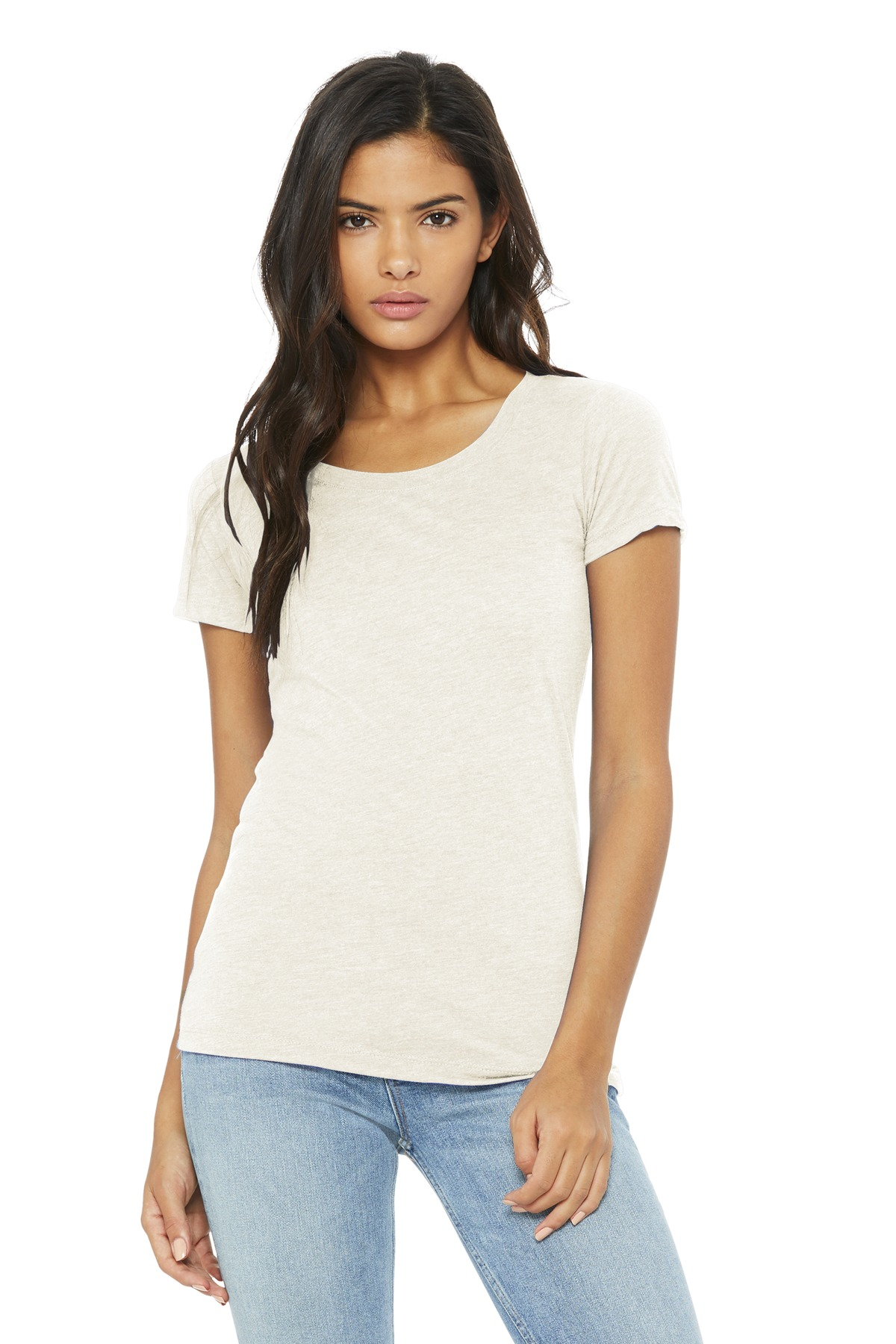 BELLA+CANVAS  ®  Women's Triblend Short Sleeve Tee. BC8413 - Oatmeal Triblend