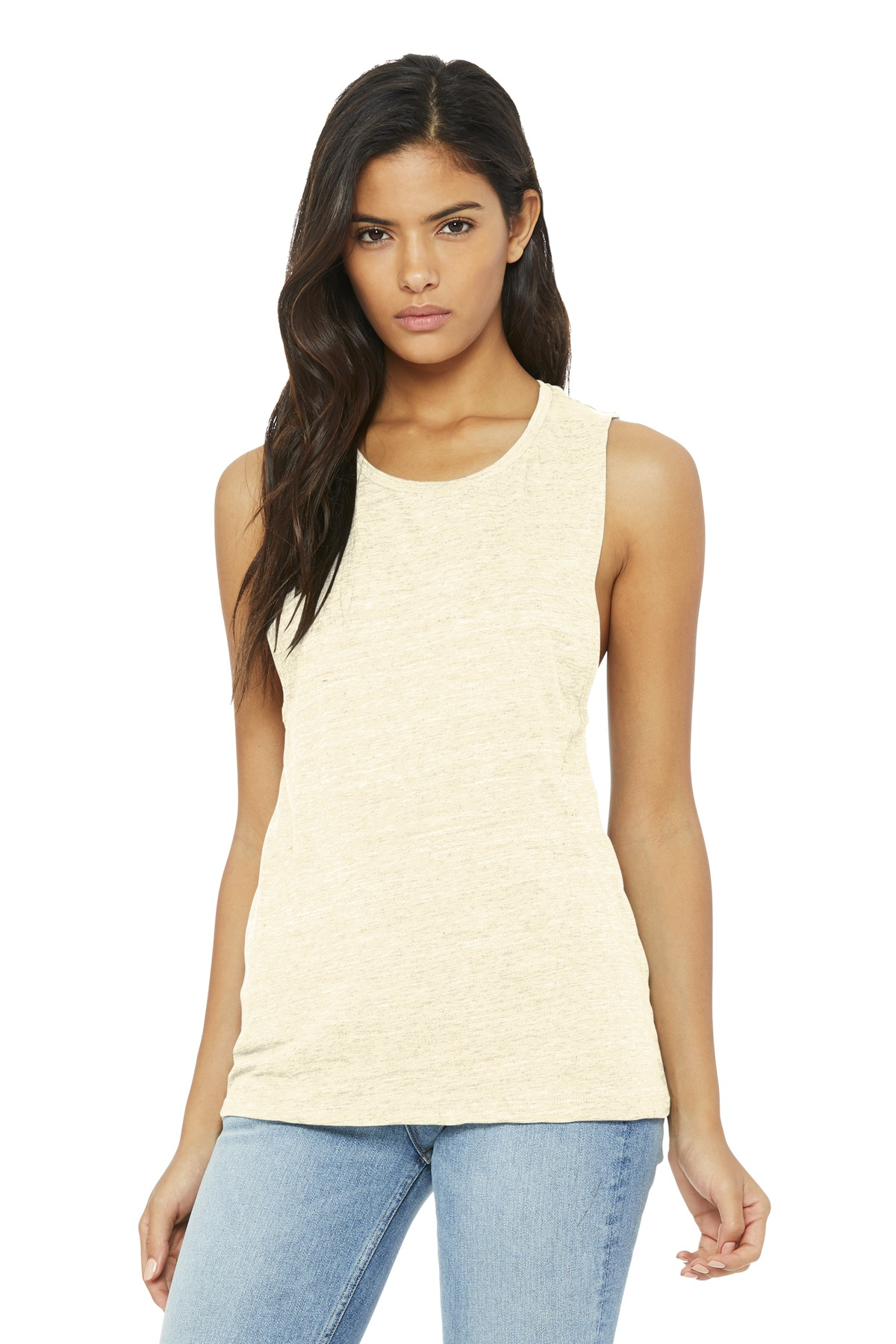 BELLA+CANVAS  ®  Women's Flowy Scoop Muscle Tank. BC8803 - Natural Slub