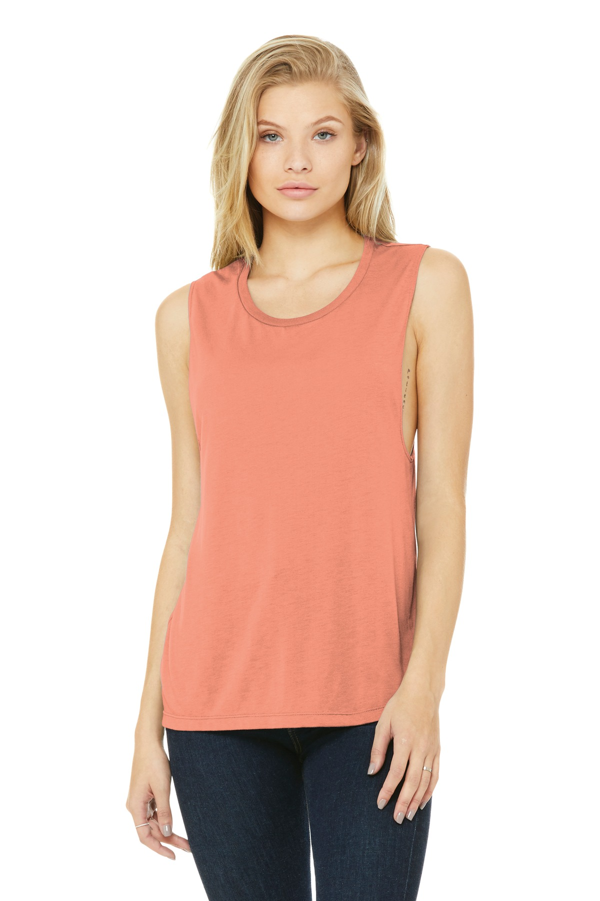 BELLA+CANVAS  ®  Women's Flowy Scoop Muscle Tank. BC8803 - Sunset