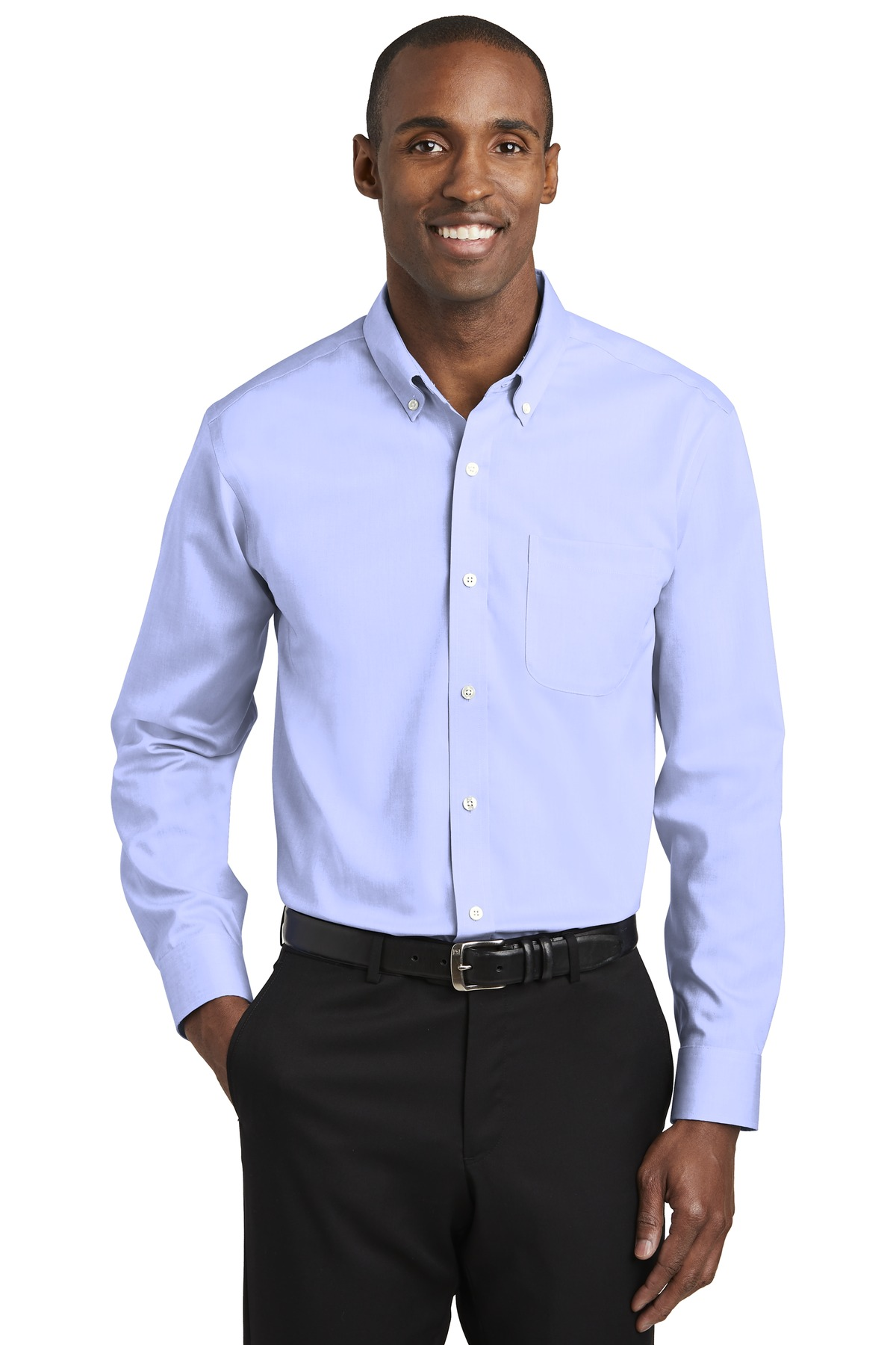 Red House ®   Pinpoint Oxford Non-Iron Shirt. RH240 - Blue