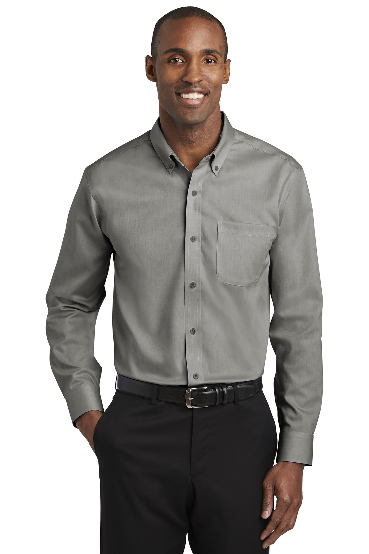 Red House ®   Pinpoint Oxford Non-Iron Shirt. RH240 - Charcoal