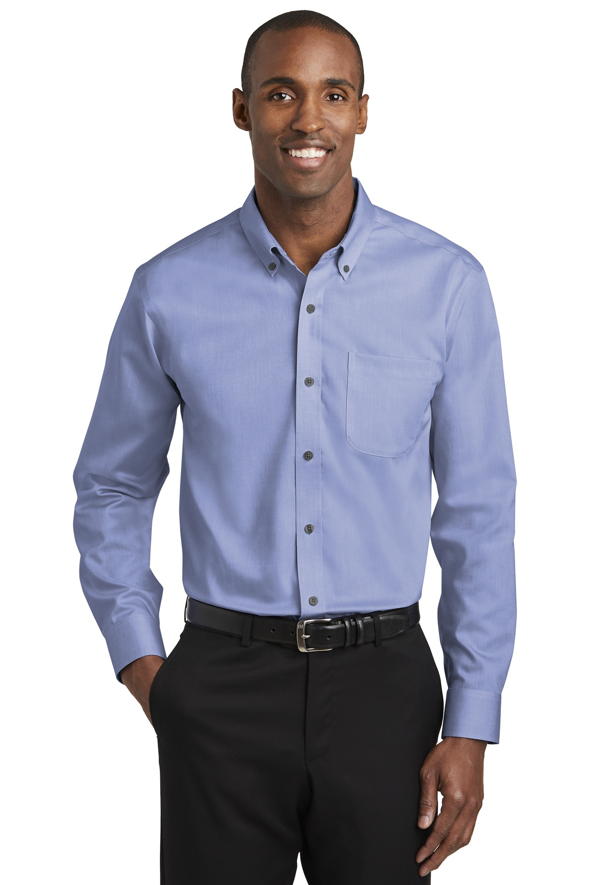 Red House ®   Pinpoint Oxford Non-Iron Shirt. RH240 - Vintage Navy