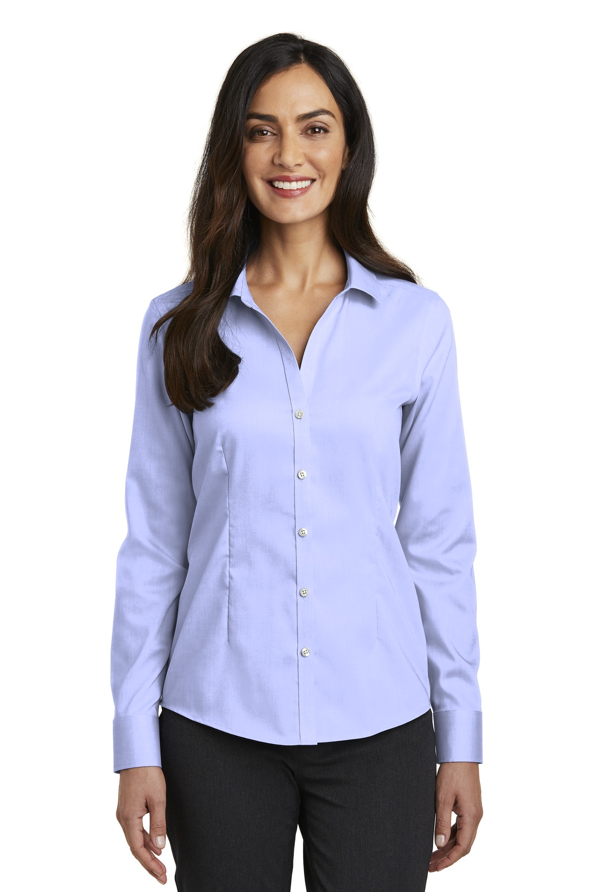 Red House ®   Ladies Pinpoint Oxford Non-Iron Shirt. RH250 - Blue