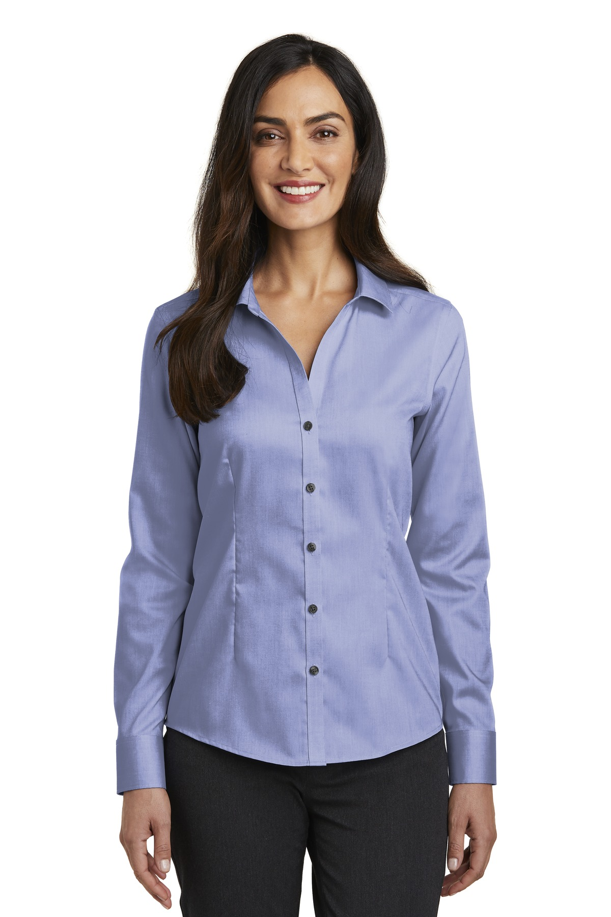 Red House ®   Ladies Pinpoint Oxford Non-Iron Shirt. RH250 - Vintage Navy