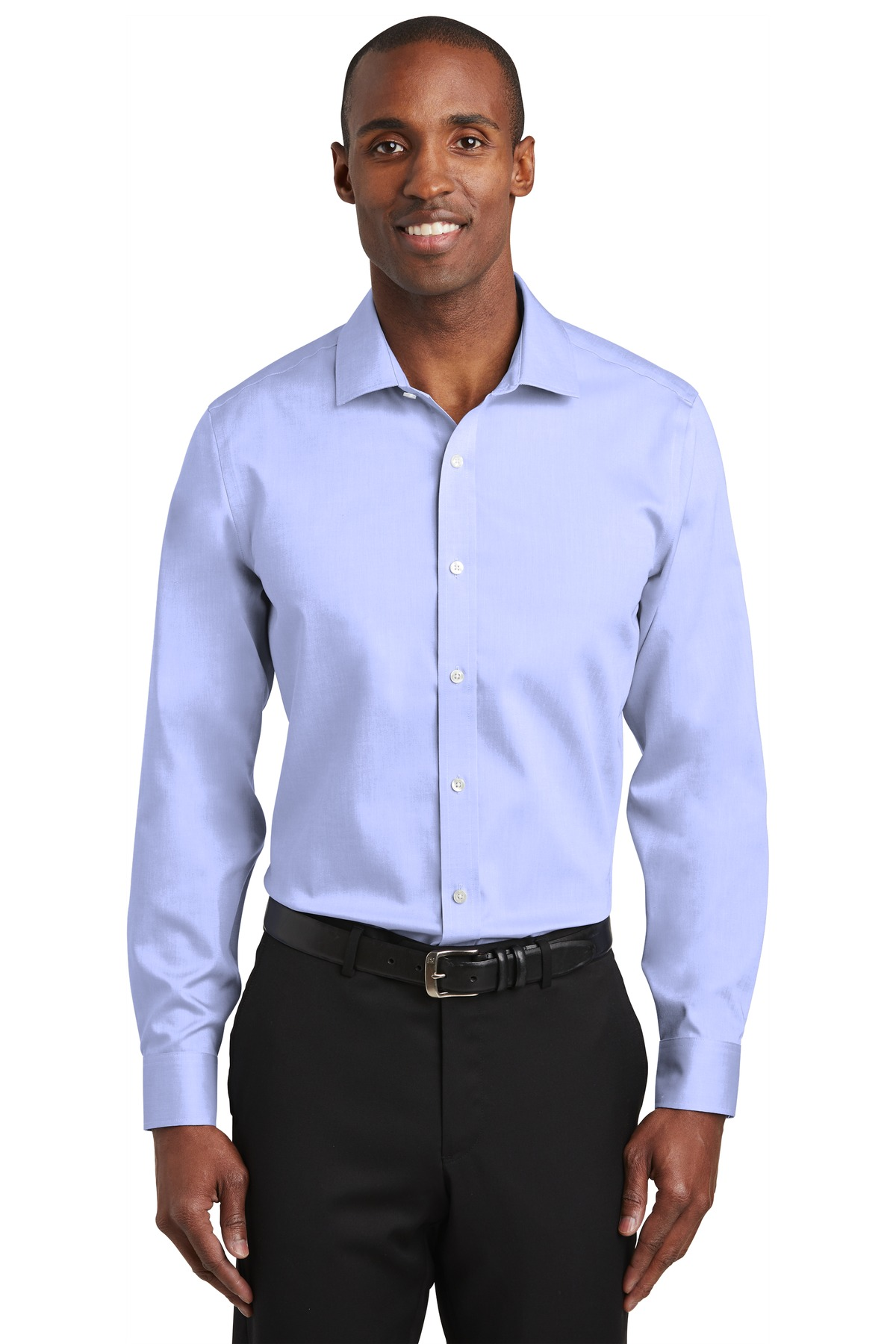 Red House ®   Slim Fit Pinpoint Oxford Non-Iron Shirt. RH620 - Blue